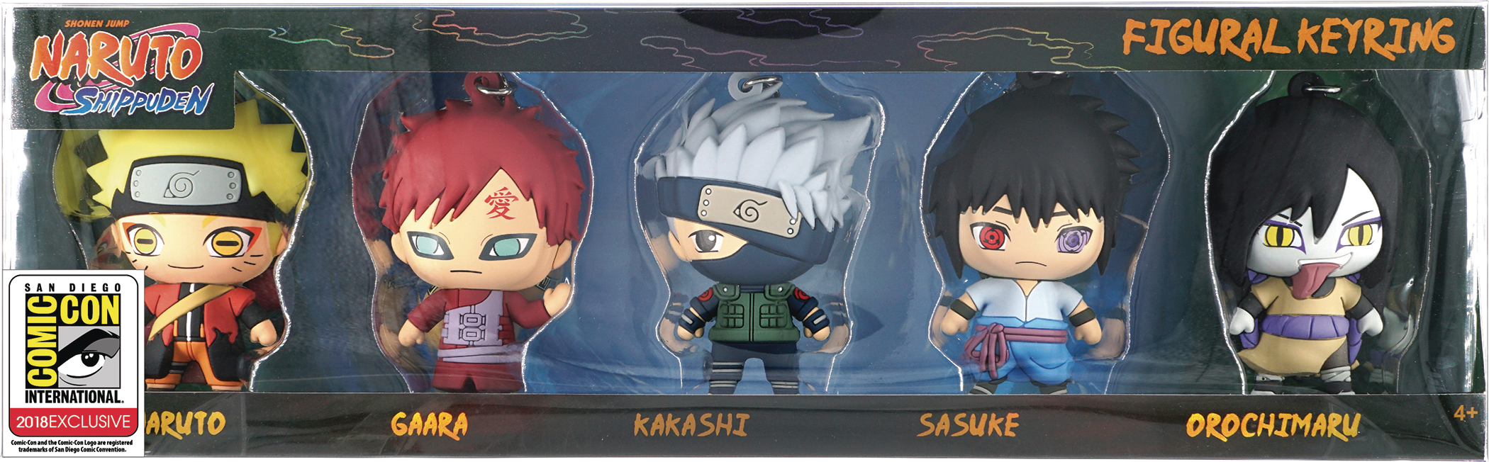 NARUTO 3D FOAM KEY RING CON EXCL 5PC SET
