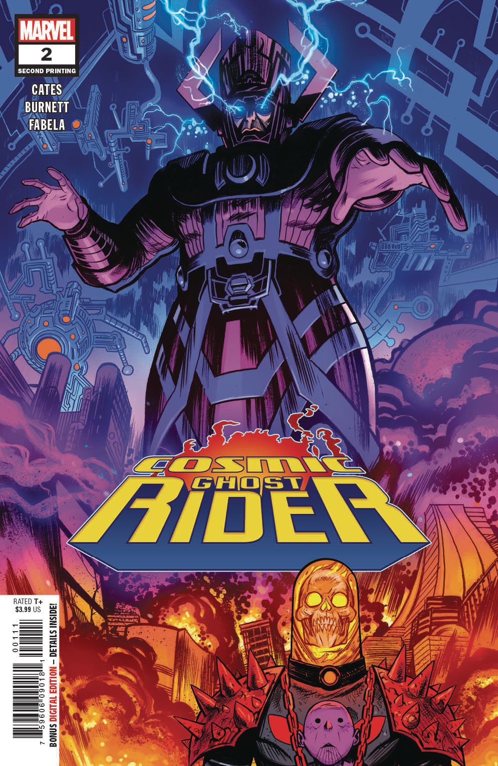 COSMIC GHOST RIDER #2 (OF 5) 2ND PTG BURNETT VAR