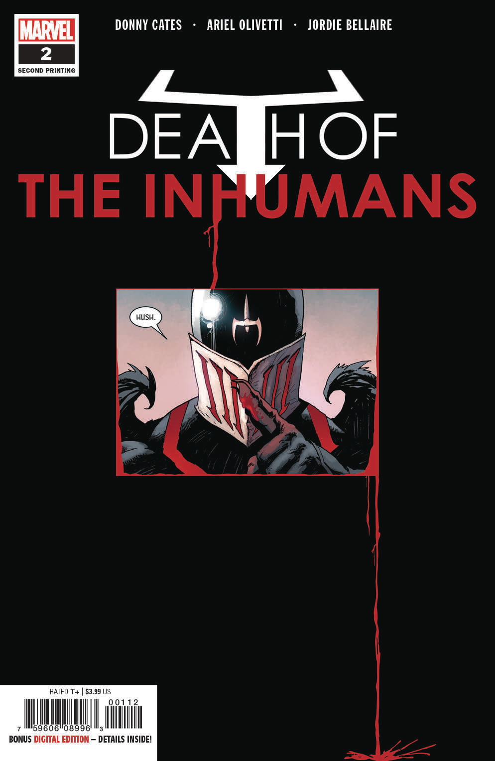 DEATH OF INHUMANS #2 (OF 5) 2ND PTG OLIVETTI VAR
