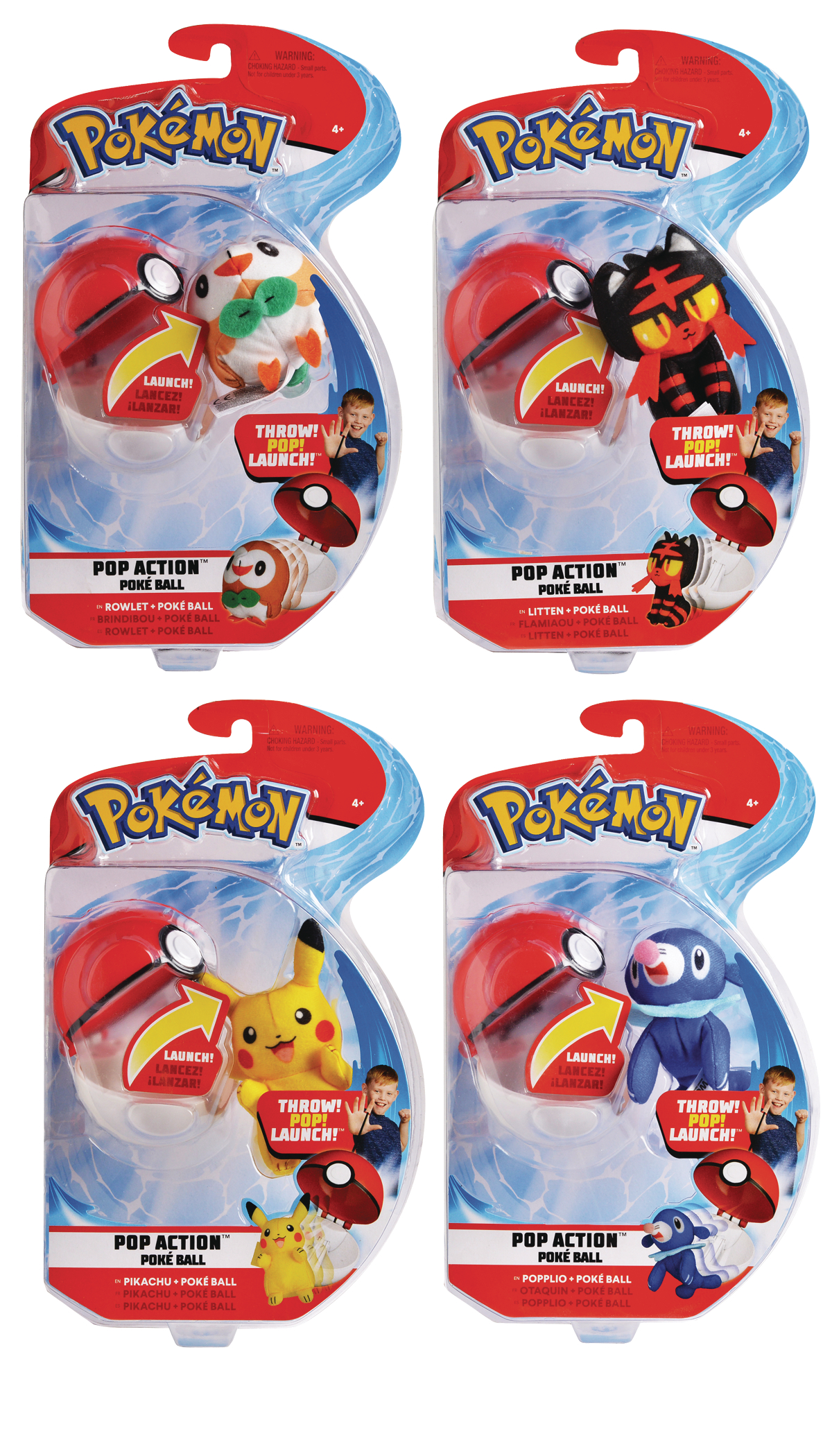 POKEMON POP-ACTION POKEBALL ASST