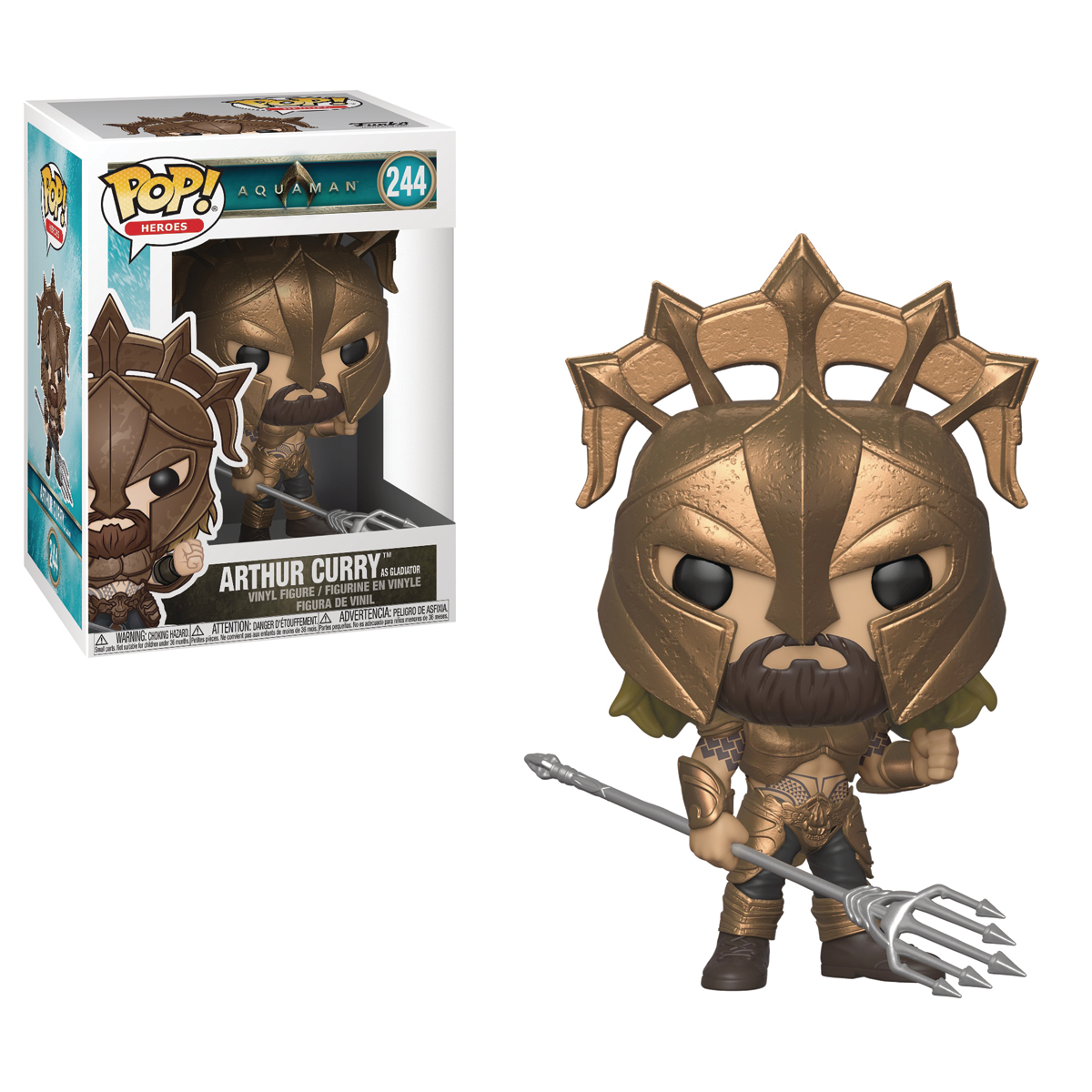 POP DC HEROES ARTHUR CURRY AS GLADIATOR VINYL FIG