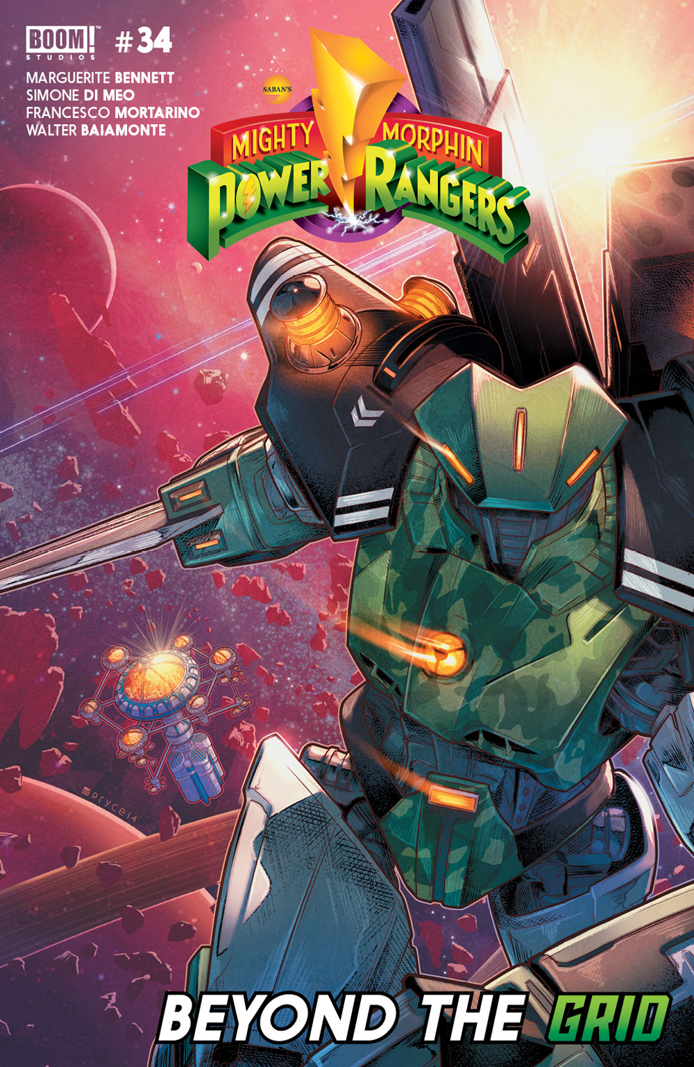 MIGHTY MORPHIN POWER RANGERS #34 MAIN