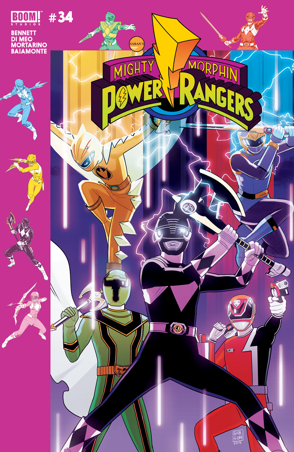 MIGHTY MORPHIN POWER RANGERS #34 PREORDER GIBSON VAR