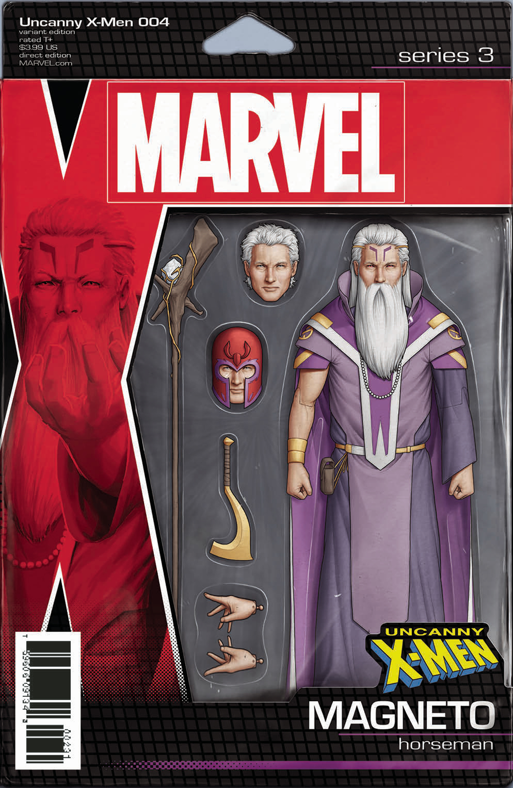 UNCANNY X-MEN #4 CHRISTOPHER ACTION FIGURE VAR