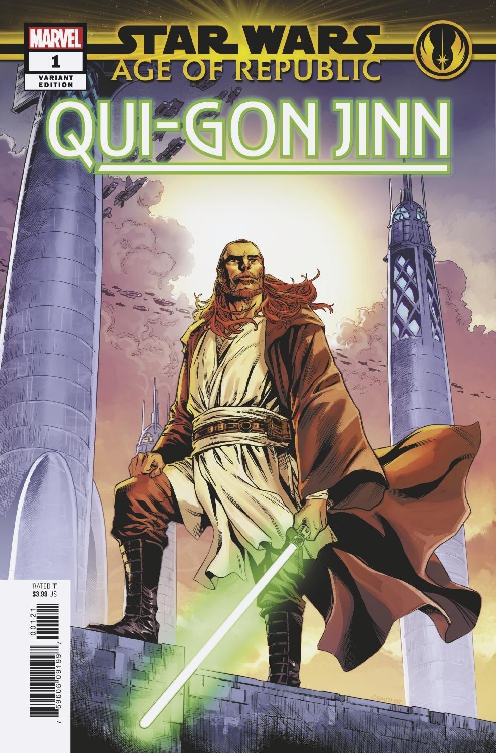 STAR WARS AGE REPUBLIC QUI-GON JINN #1 CORY SMITH VAR