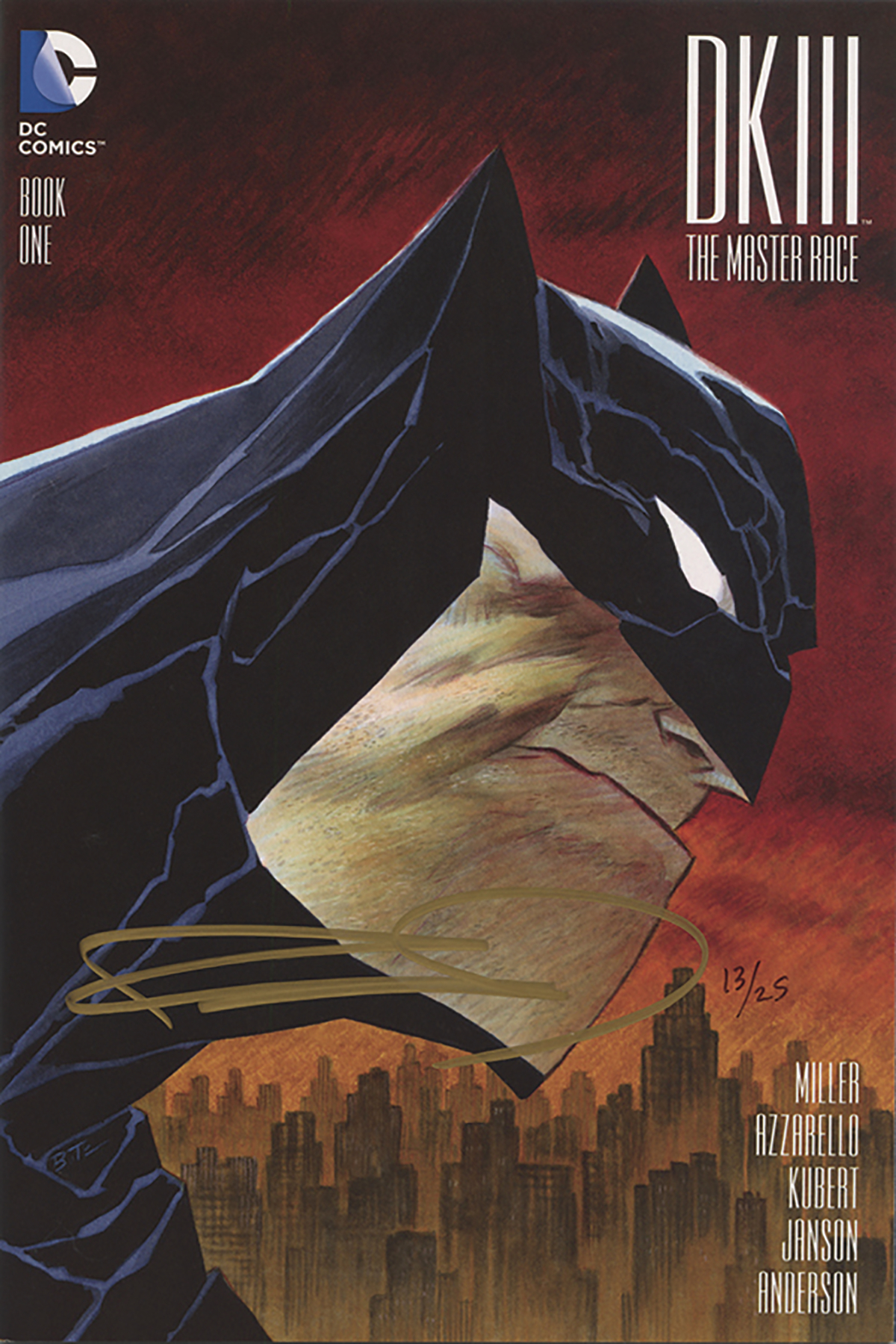 DF DARK KNIGHT III MASTER RACE #1 SGN MILLER