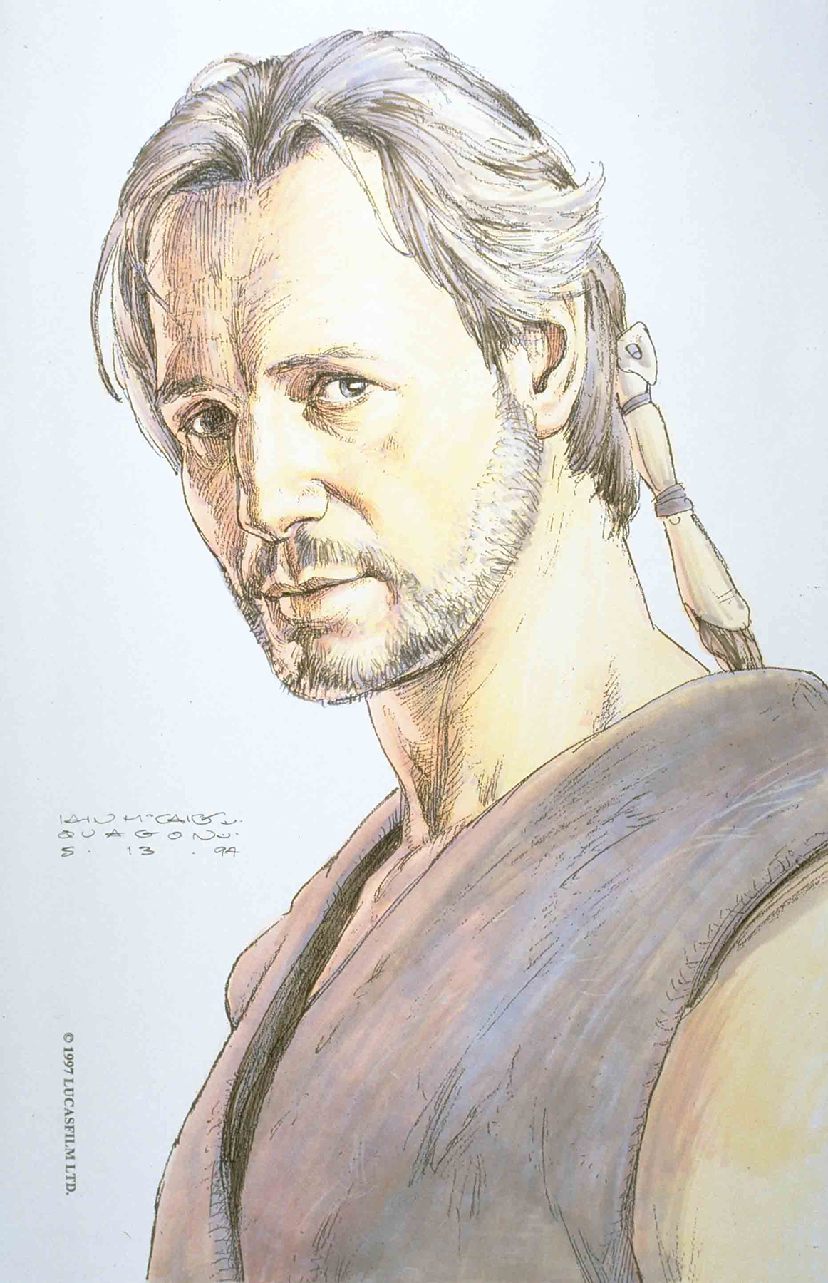 STAR WARS AGE REPUBLIC QUI-GON JINN #1 MCCAIG DESIGN VAR