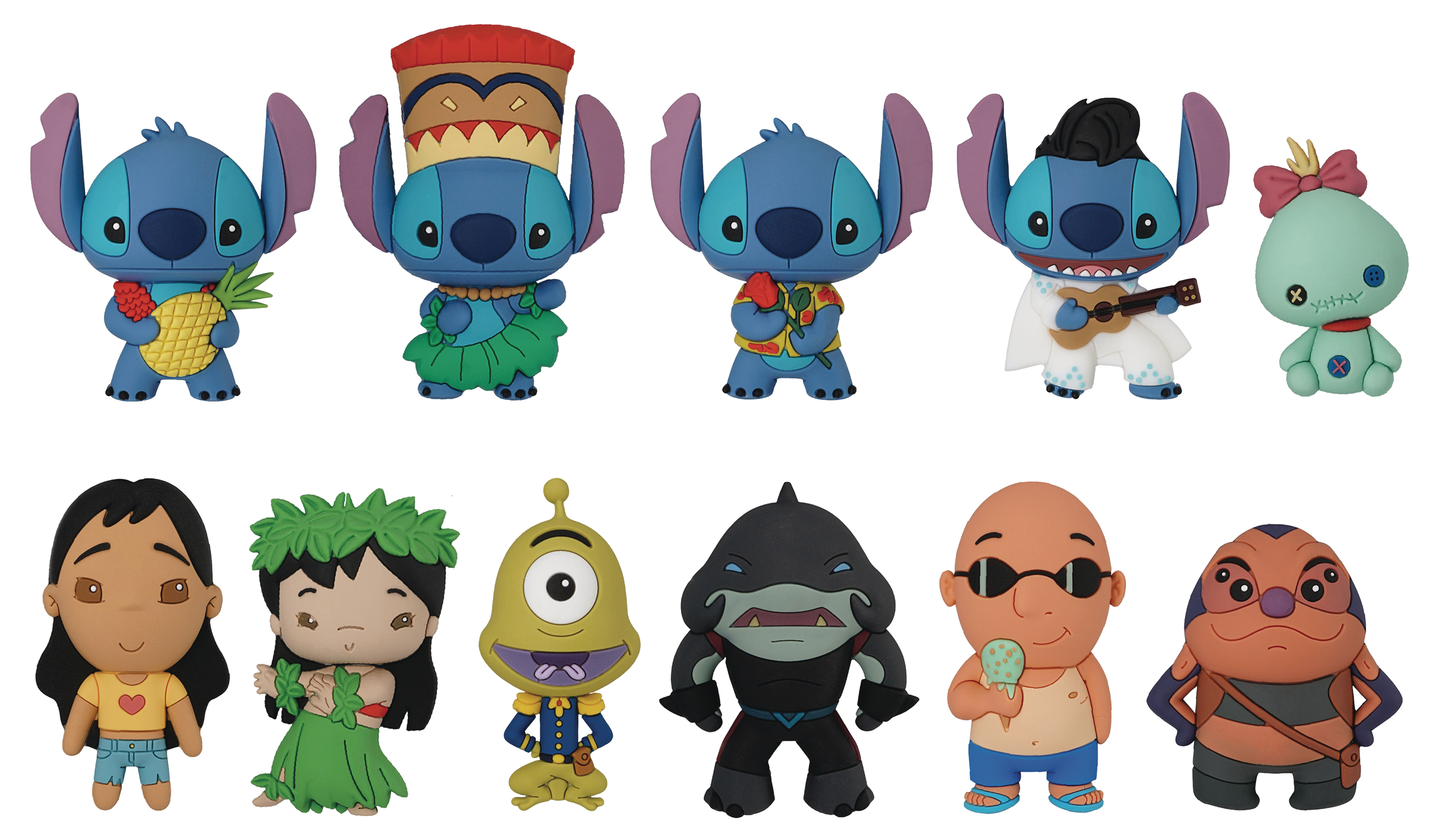 LILO AND STITCH SERIES 2 3D FIGURAL KEYRING 24PC BMB DIS