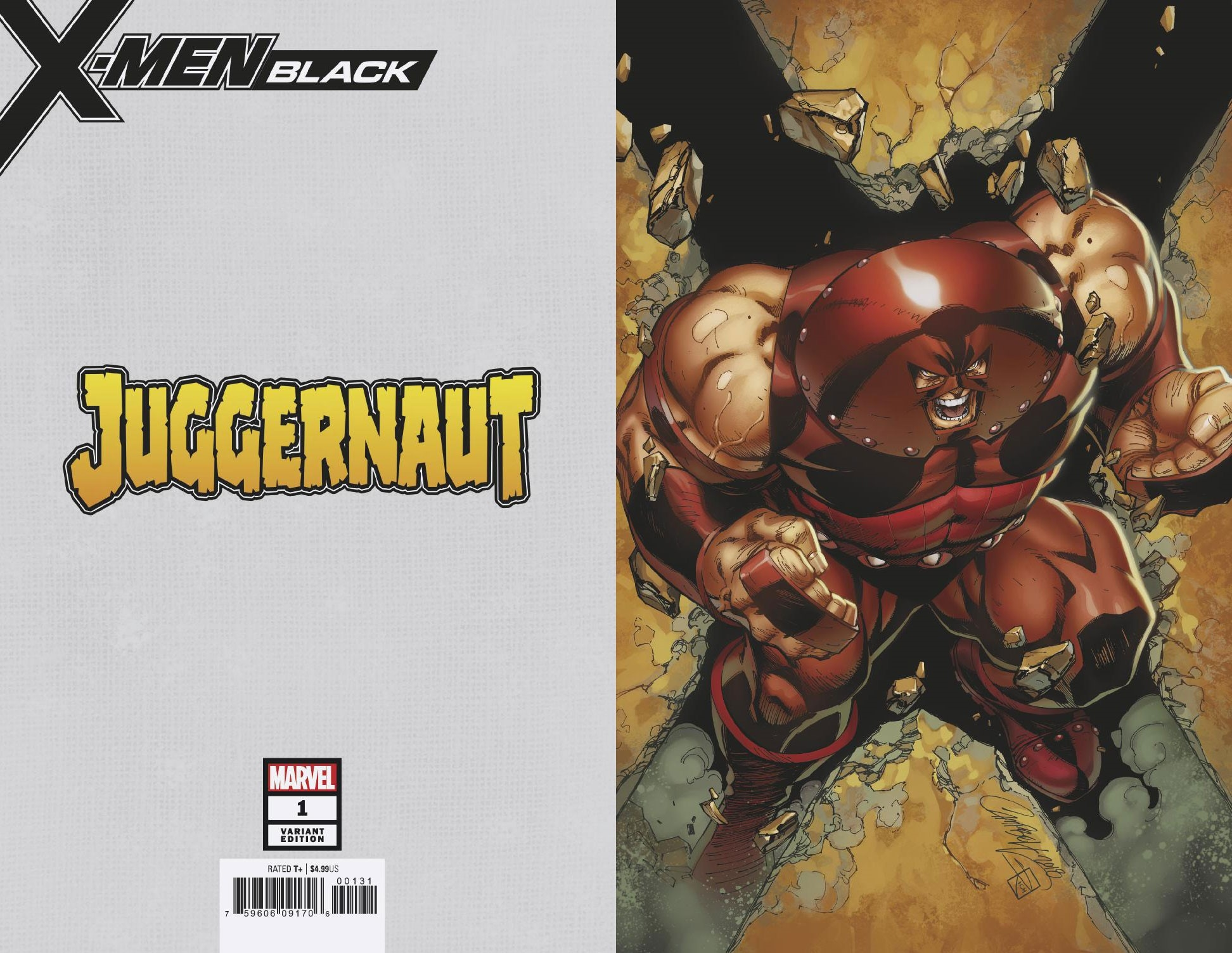 X-MEN BLACK JUGGERNAUT #1 JSC VIRGIN VAR