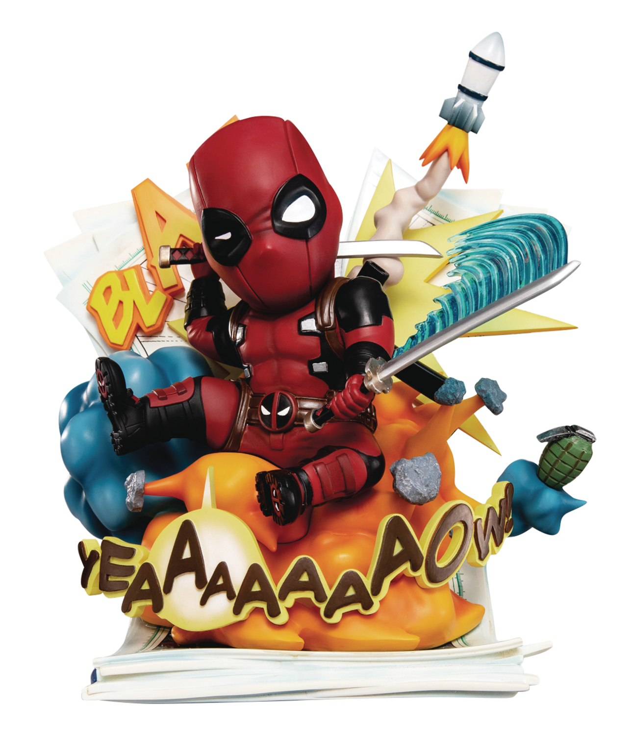 MARVEL EA-039 DEADPOOL CUT OFF THE FOURTH WALL PX STATUE