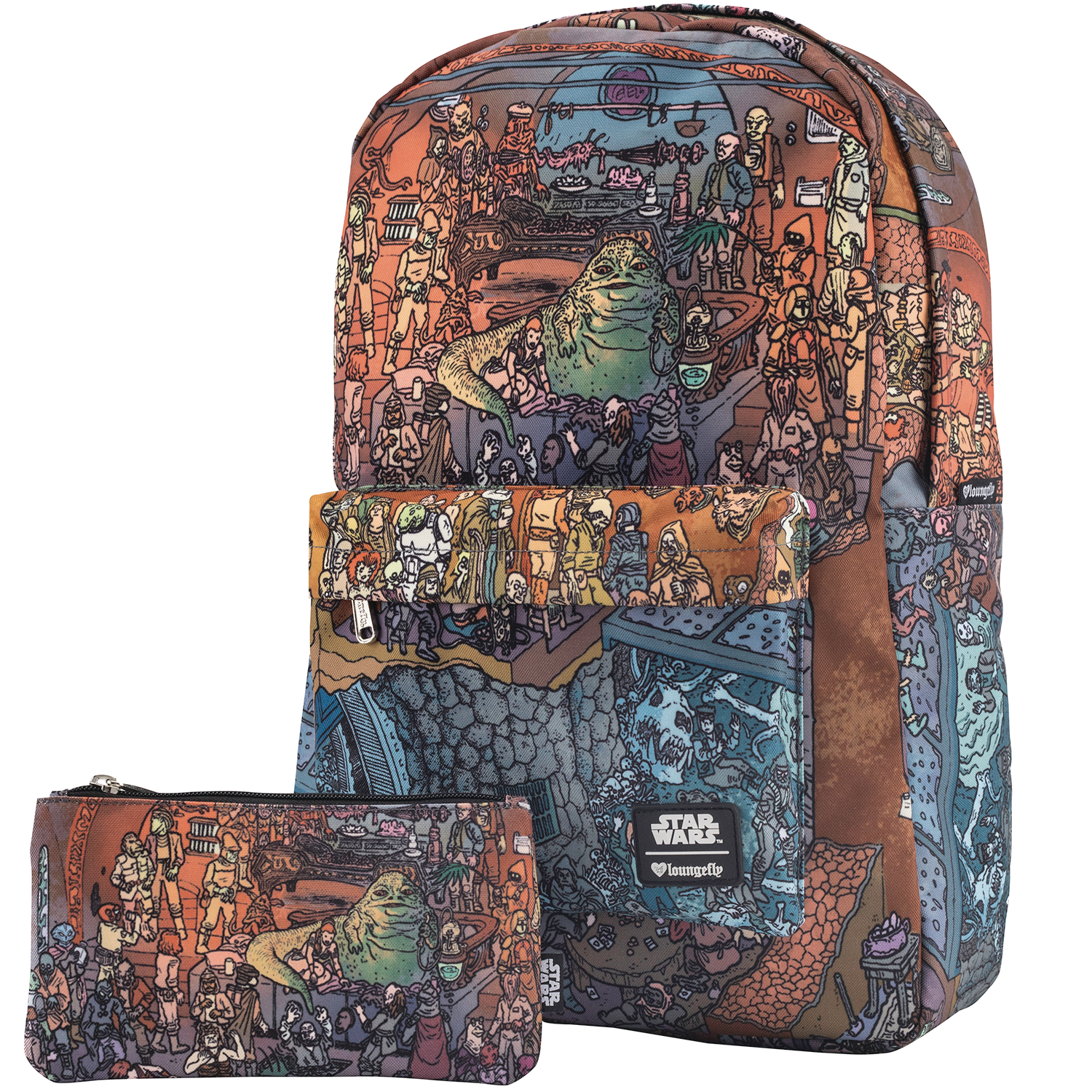 STAR WARS JABBAS PALACE PRINT BACKPACK AND PENCIL CASE