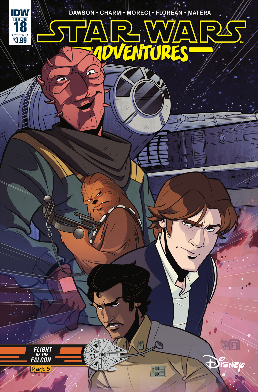 STAR WARS ADVENTURES #18 CVR B FLOREAN