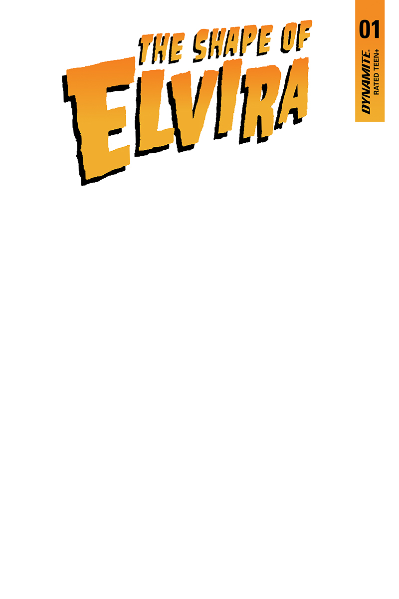 ELVIRA SHAPE OF ELVIRA #1 BLANK AUTHENTIX ED