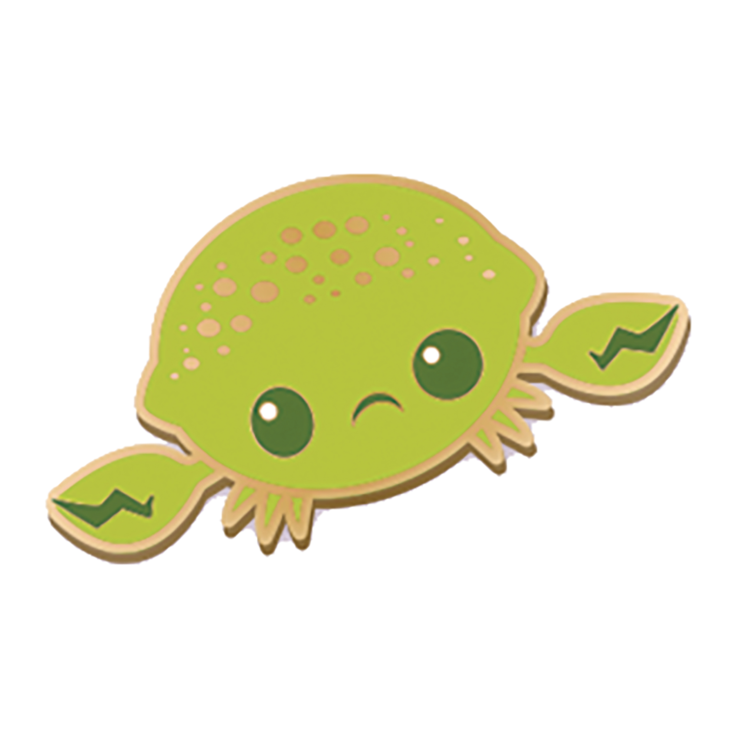 INKI-DROP LIME CRAB ENAMEL PIN