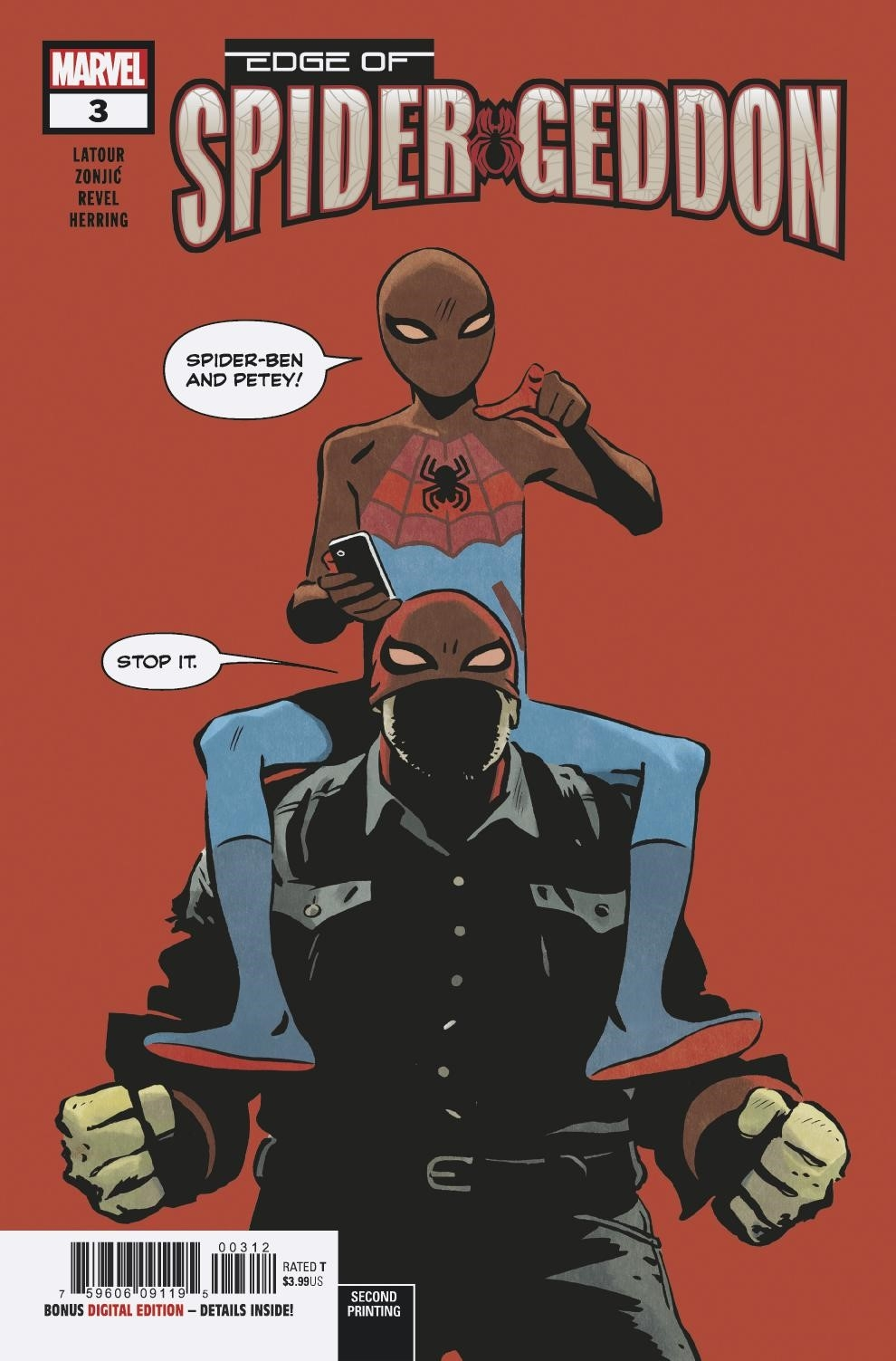 EDGE OF SPIDER-GEDDON #3 (OF 4) 2ND PTG ZONJIC VAR