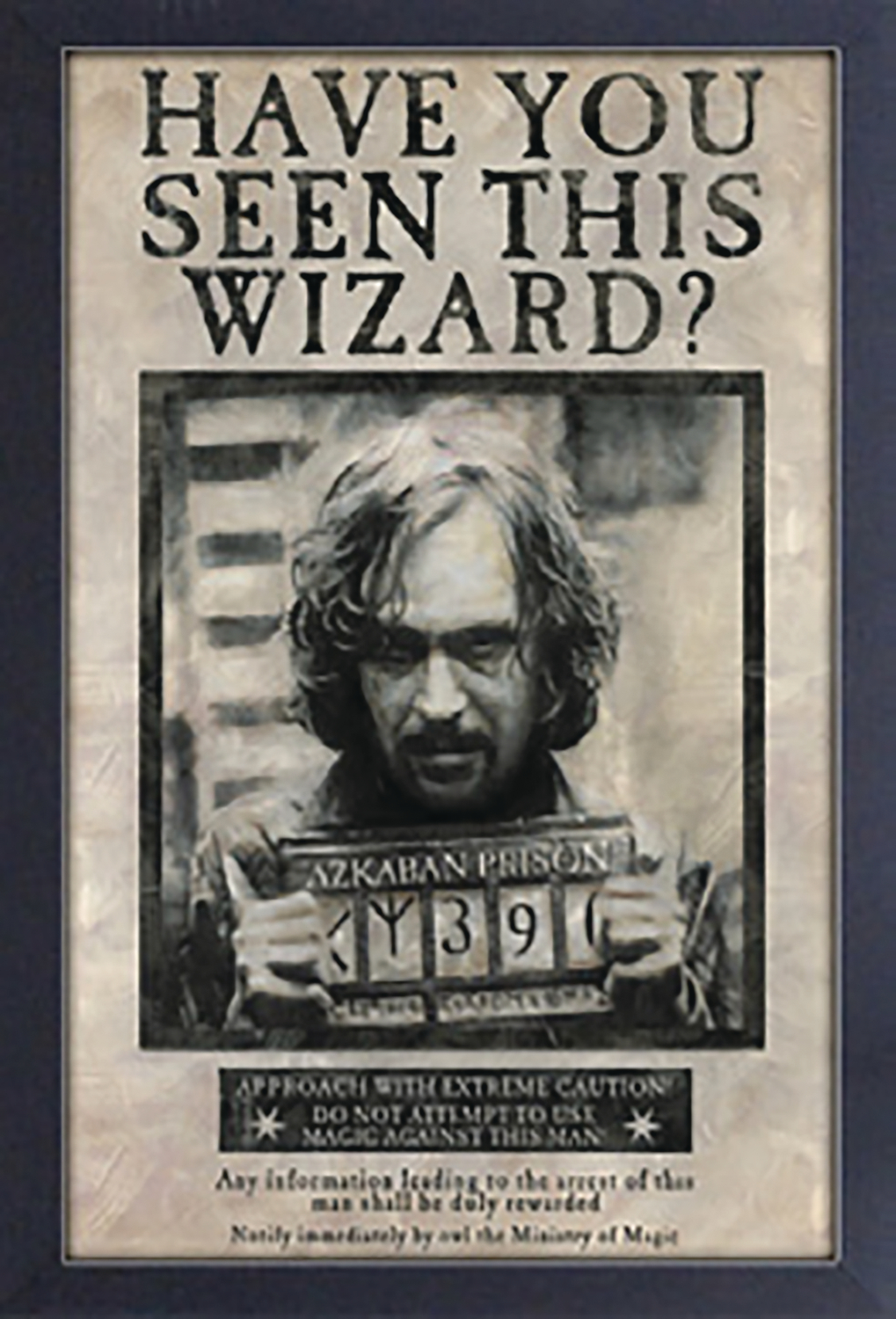 HP SIRIUS BLACK WANTED POSTER 11 X 17 FRAMED PRINT