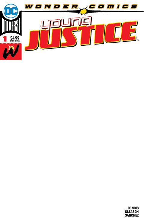 YOUNG JUSTICE #1 BLANK VAR ED