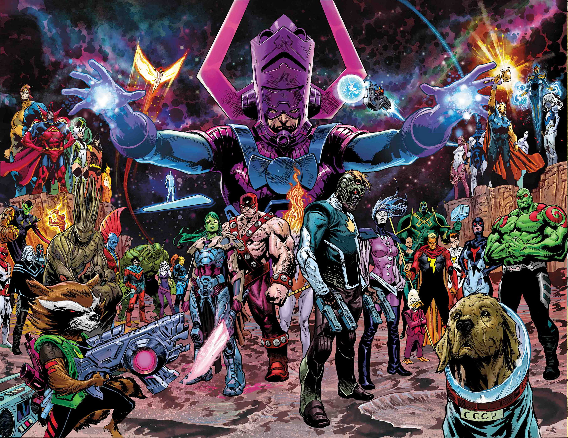 GUARDIANS OF THE GALAXY #1 SHAW WRAPAROUND VAR