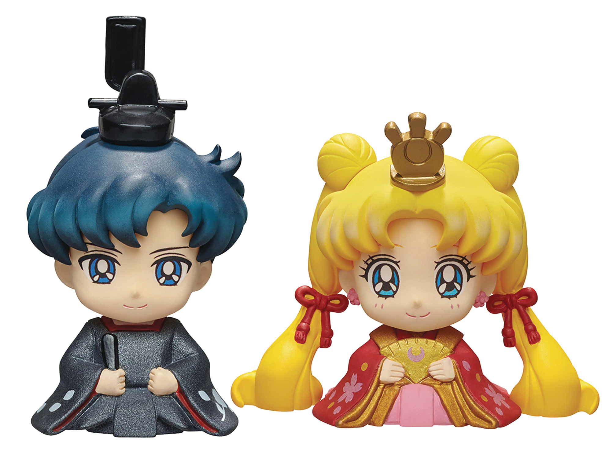 SAILOR MOON PETIT CHARA HINAMATSURI USAGI & MAMORU 2PK SET (