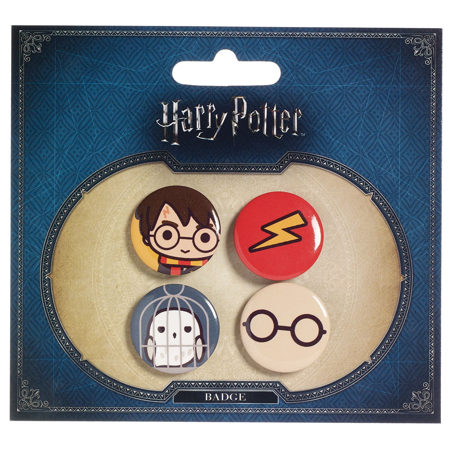 HARRY POTTER AND HEDWIG BUTTON SET