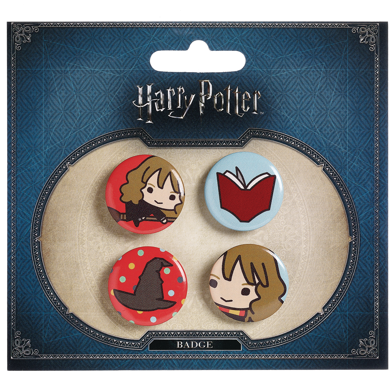 HARRY POTTER HERMIONE AND SORTING HAT BUTTON SET