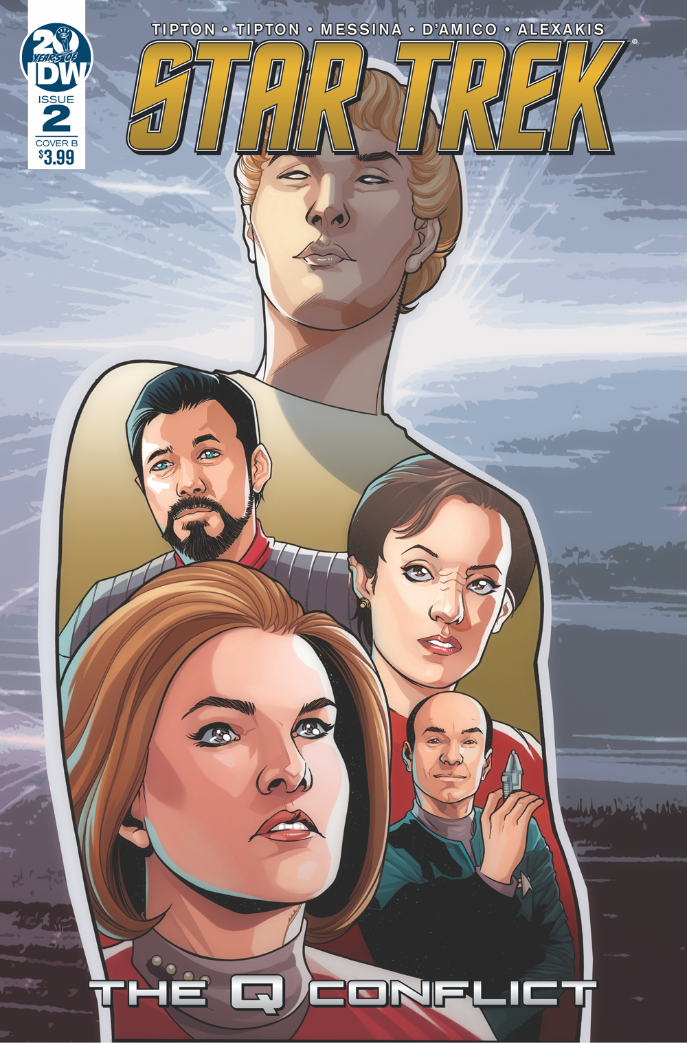 STAR TREK Q CONFLICT #2 (OF 6) CVR B MESSINA