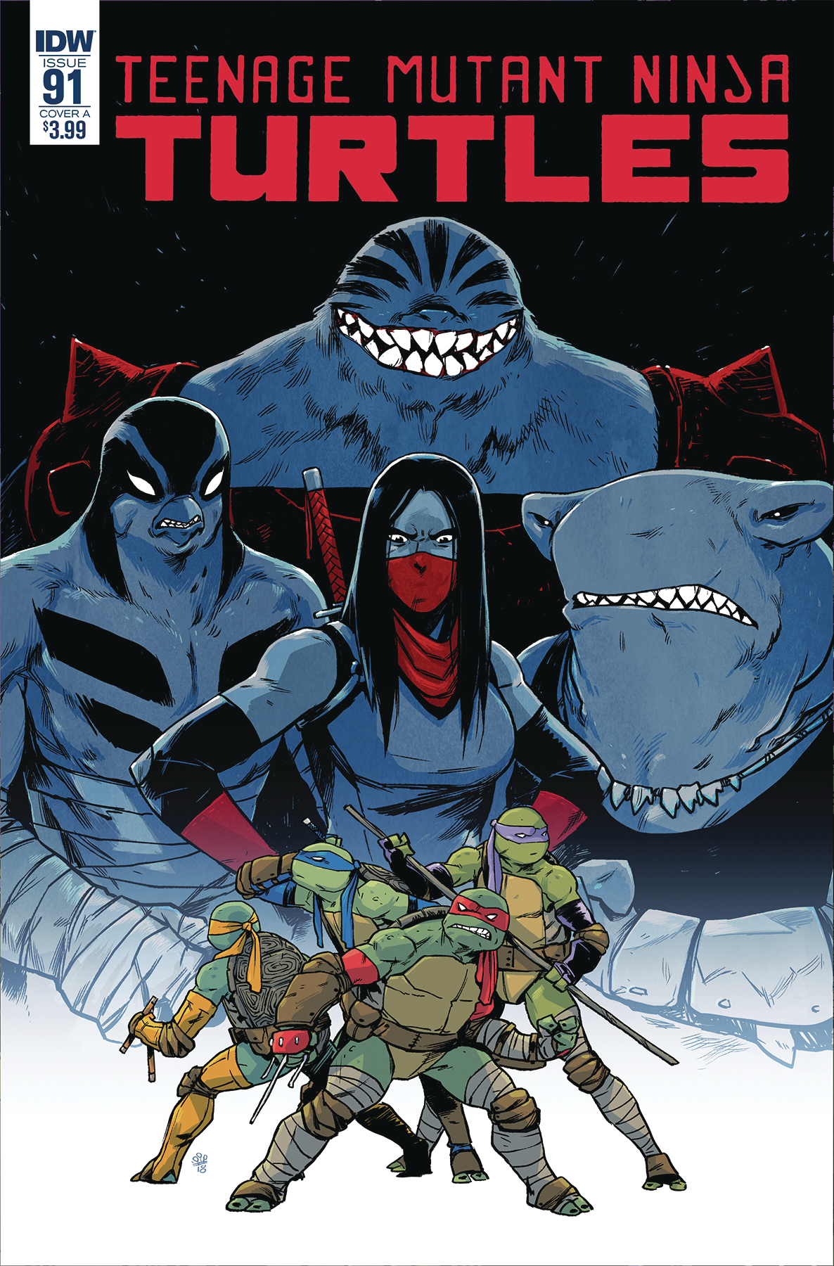 TMNT ONGOING #91 CVR A DIALYNAS