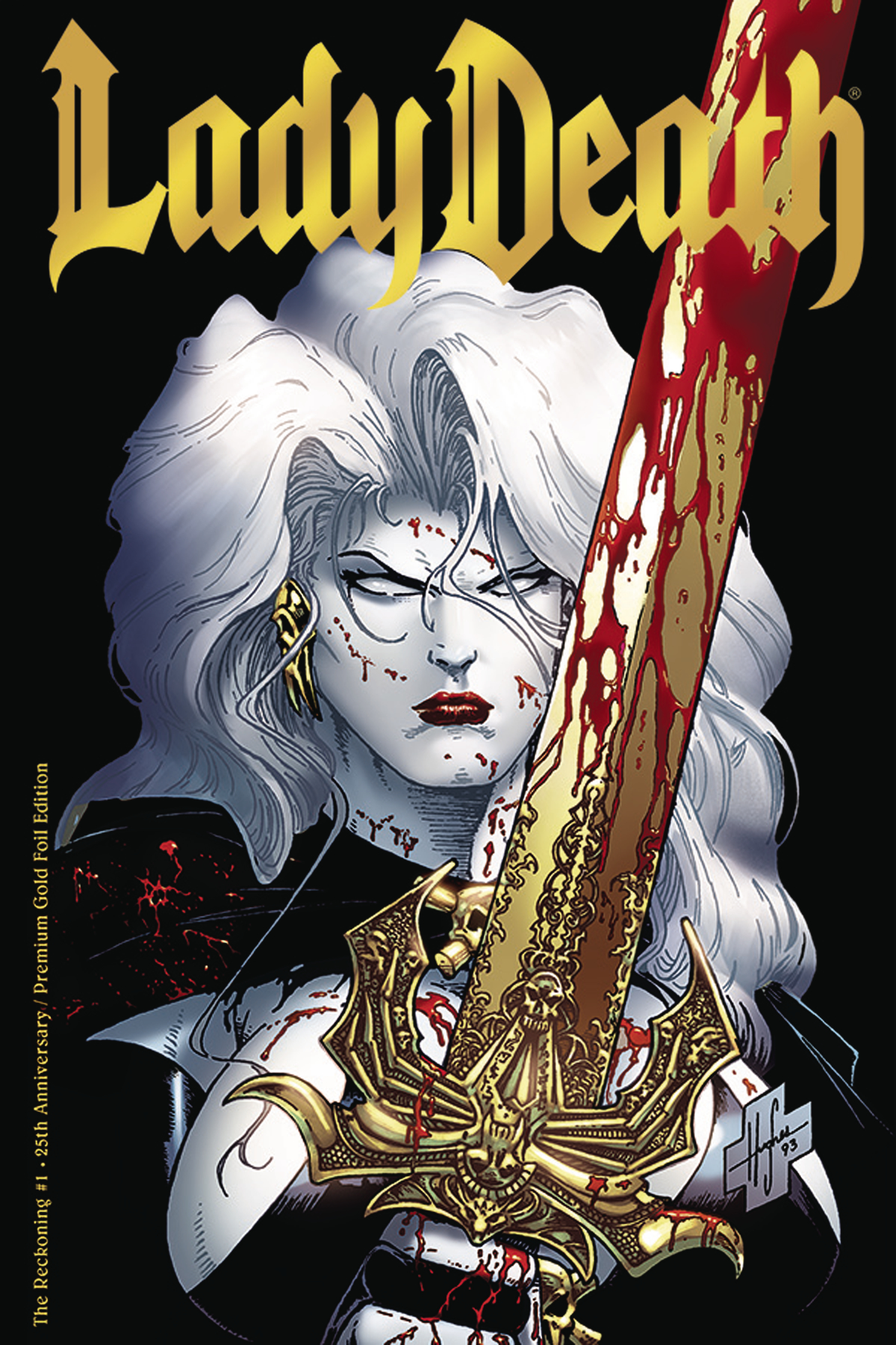 LADY DEATH THE RECKONING #1 25TH ANNIV GOLD FOIL ED (MR)