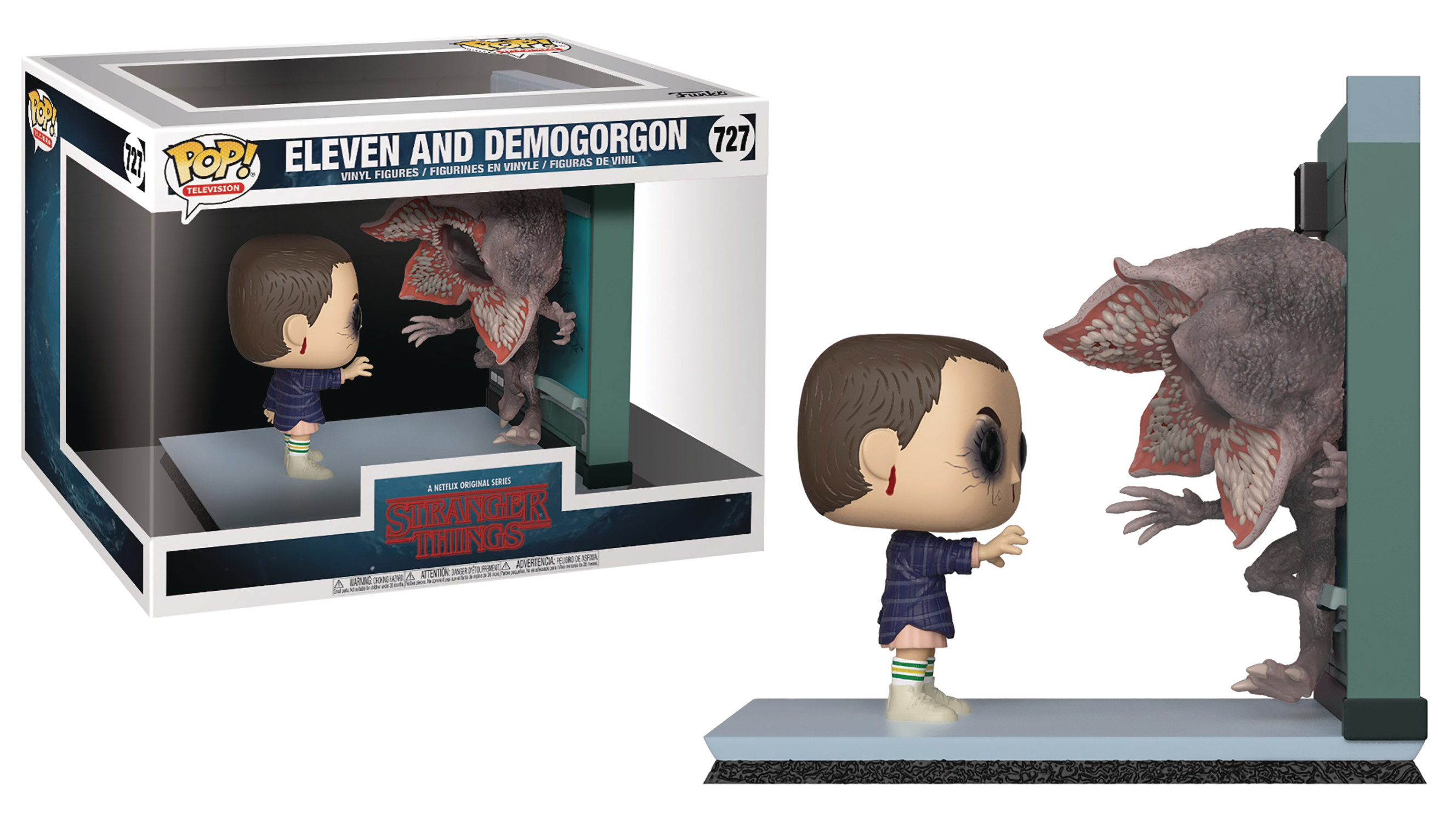 POP MOVIE MOMENT ELEVEN AND DEMOGORGON VIN FIG