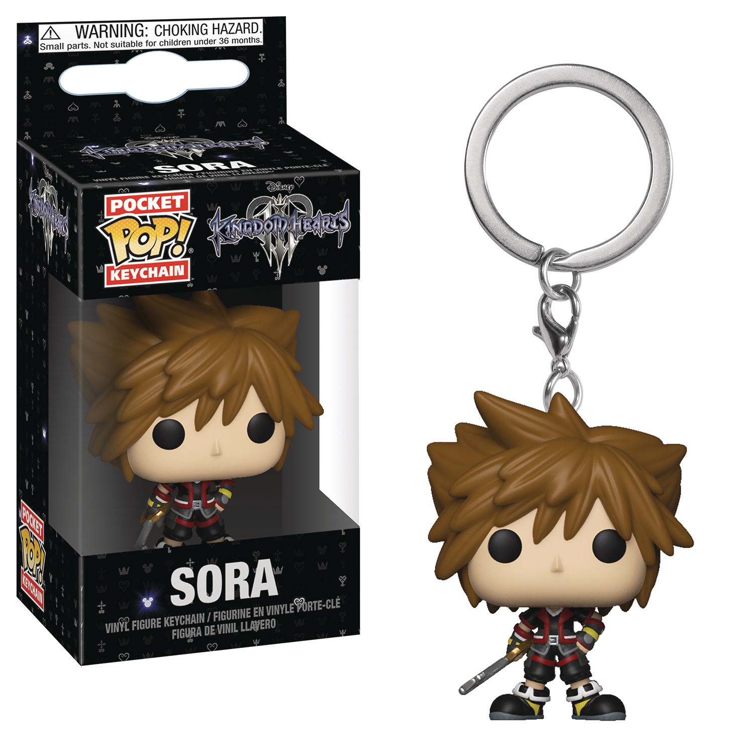 POCKET POP KINGDOM HEARTS 3 SORA FIG KEYCHAIN