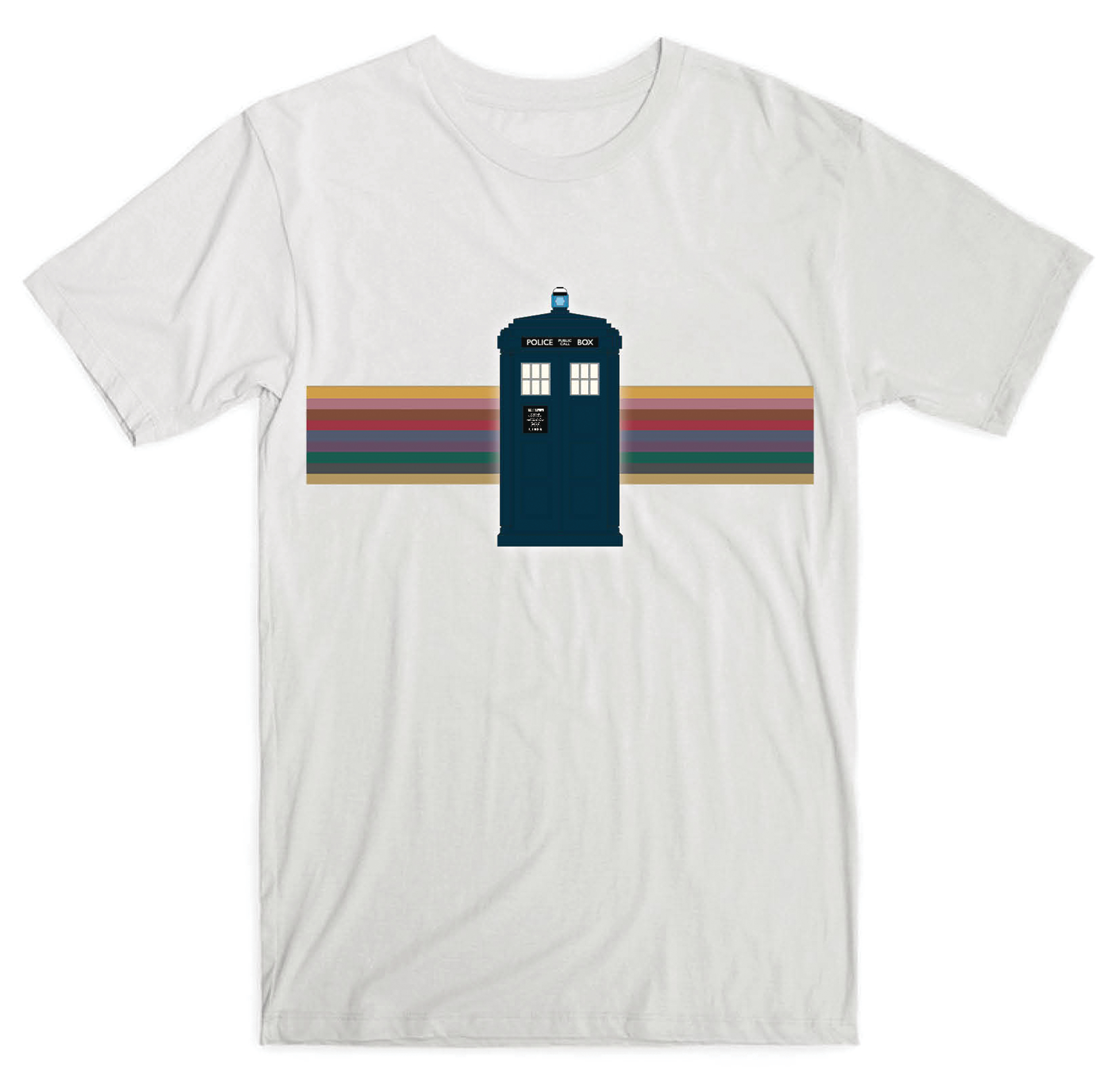 DOCTOR WHO 13TH DOCTOR TARDIS RAINBOW LADIES T/S XL
