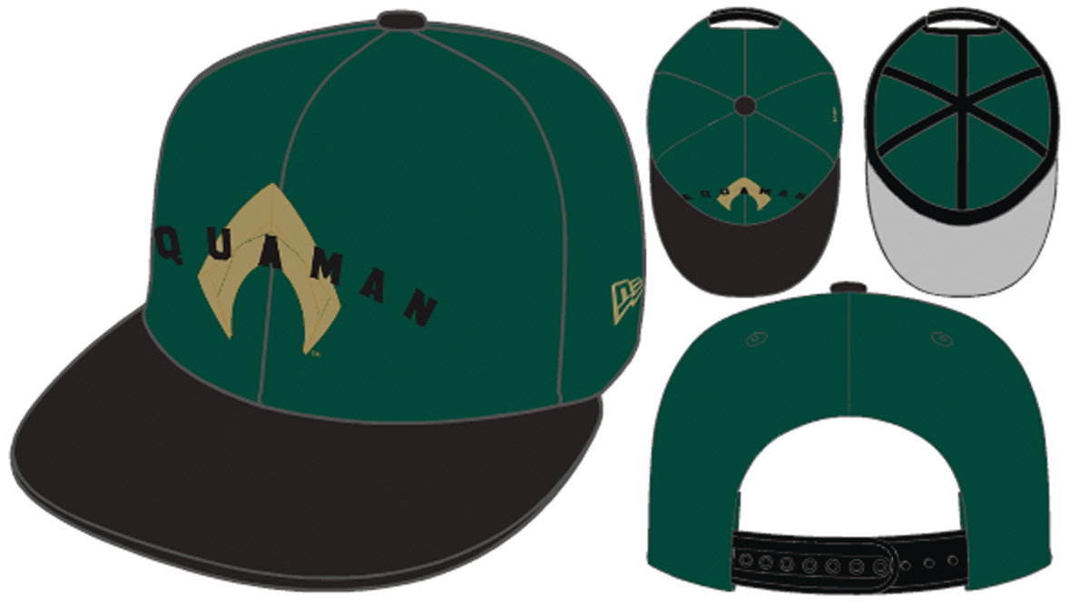 AQUAMAN MOVIE DARK GREEN 9FIFTY SNAP BACK CAP