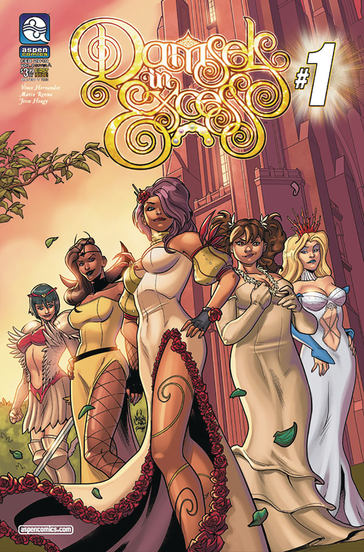 DAMSELS IN EXCESS VOL 2 #1 CVR A RENNA