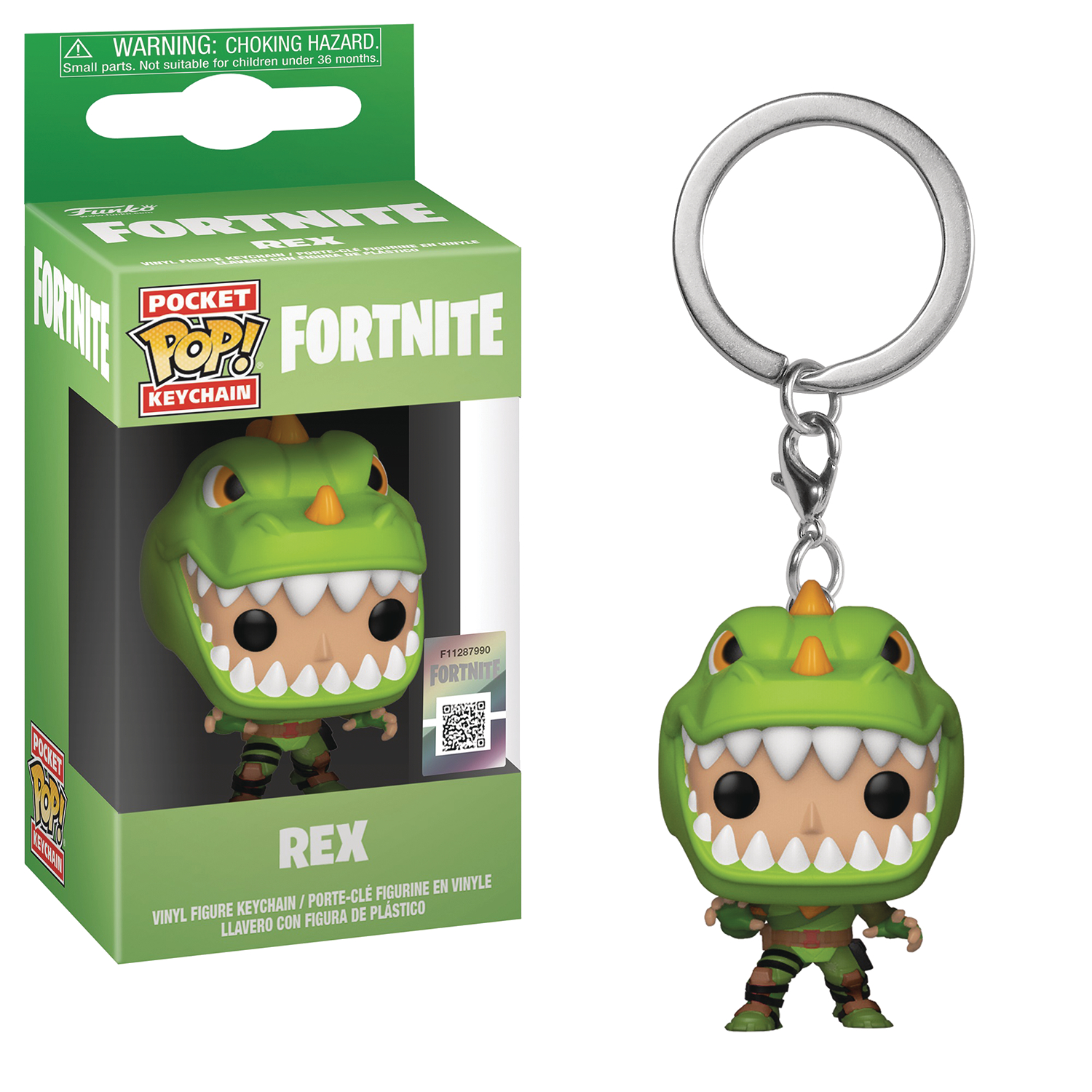 POCKET POP FORTNITE S1A REX FIG KEYCHAIN