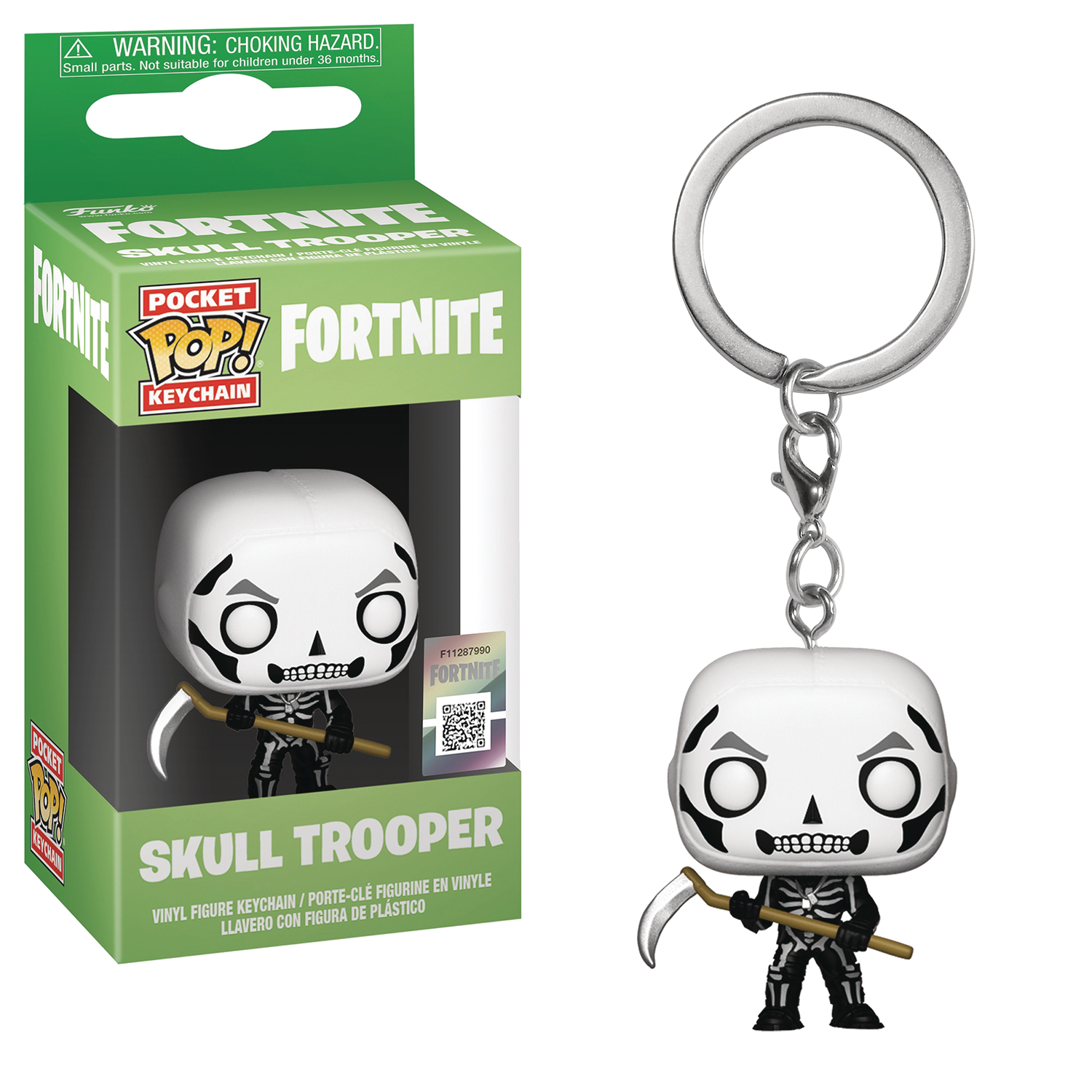 POCKET POP FORTNITE S1A SKULL TROOPER FIG KEYCHAIN