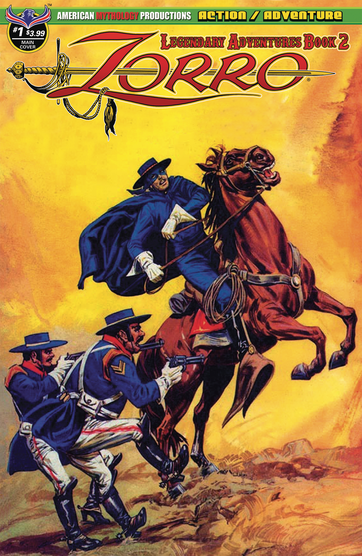 ZORRO LEGENDARY ADVENTURES BOOK 2 #1 MAIN CVR