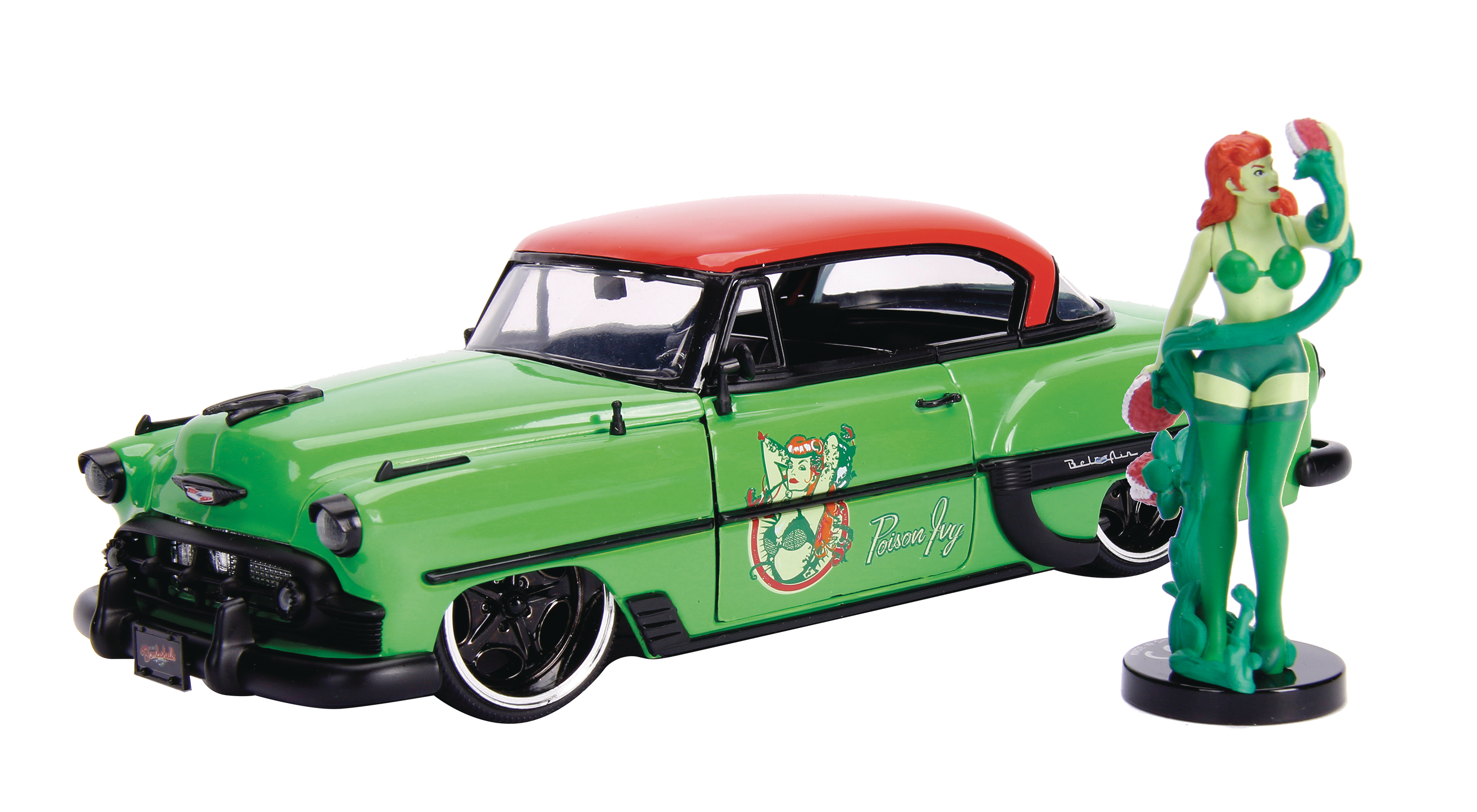 DC BOMBSHELLS 53 CHEVY BEL AIR W/ POISON IVY 1/24 VEHICLE (N