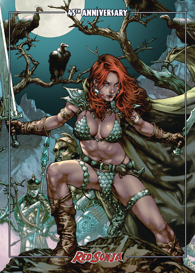 RED SONJA 45TH ANNIV TRADING CARDS ANACLETO PROMO
