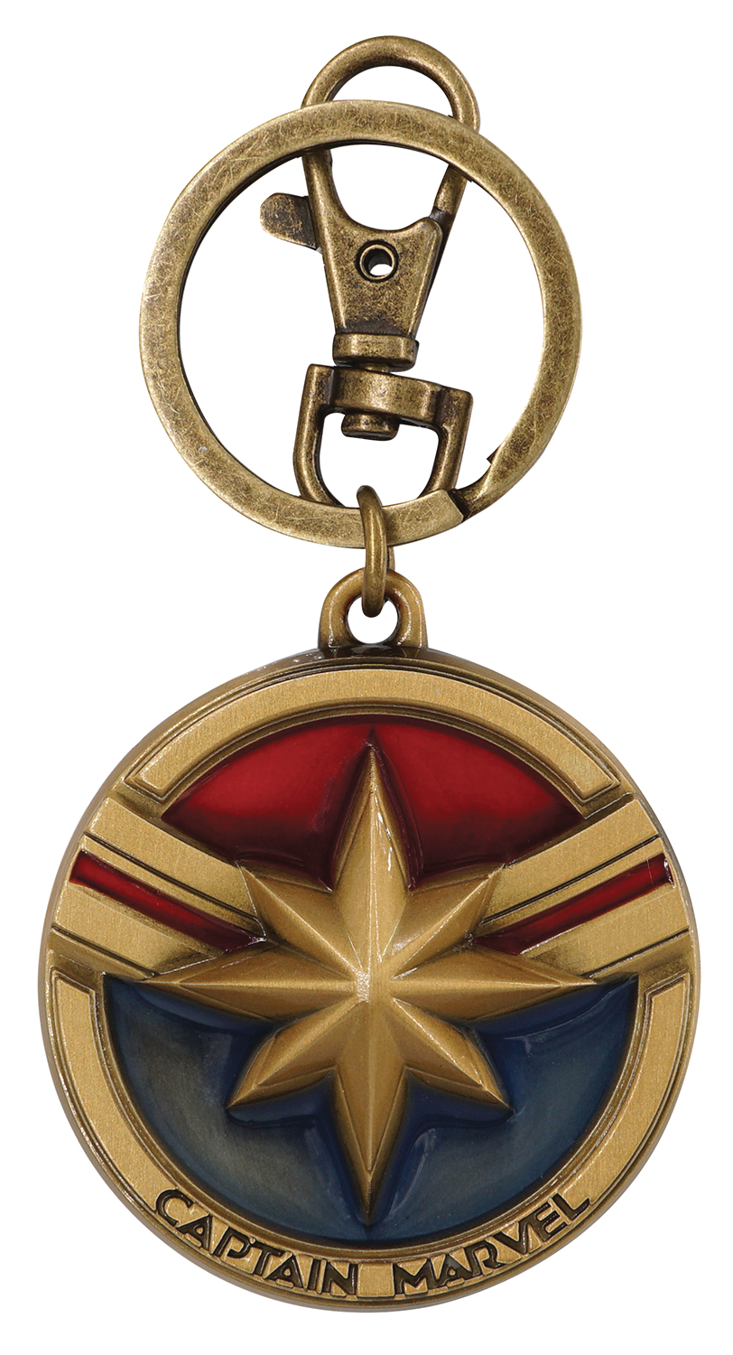 CAPTAIN MARVEL PEWTER KEY RING (O/A)