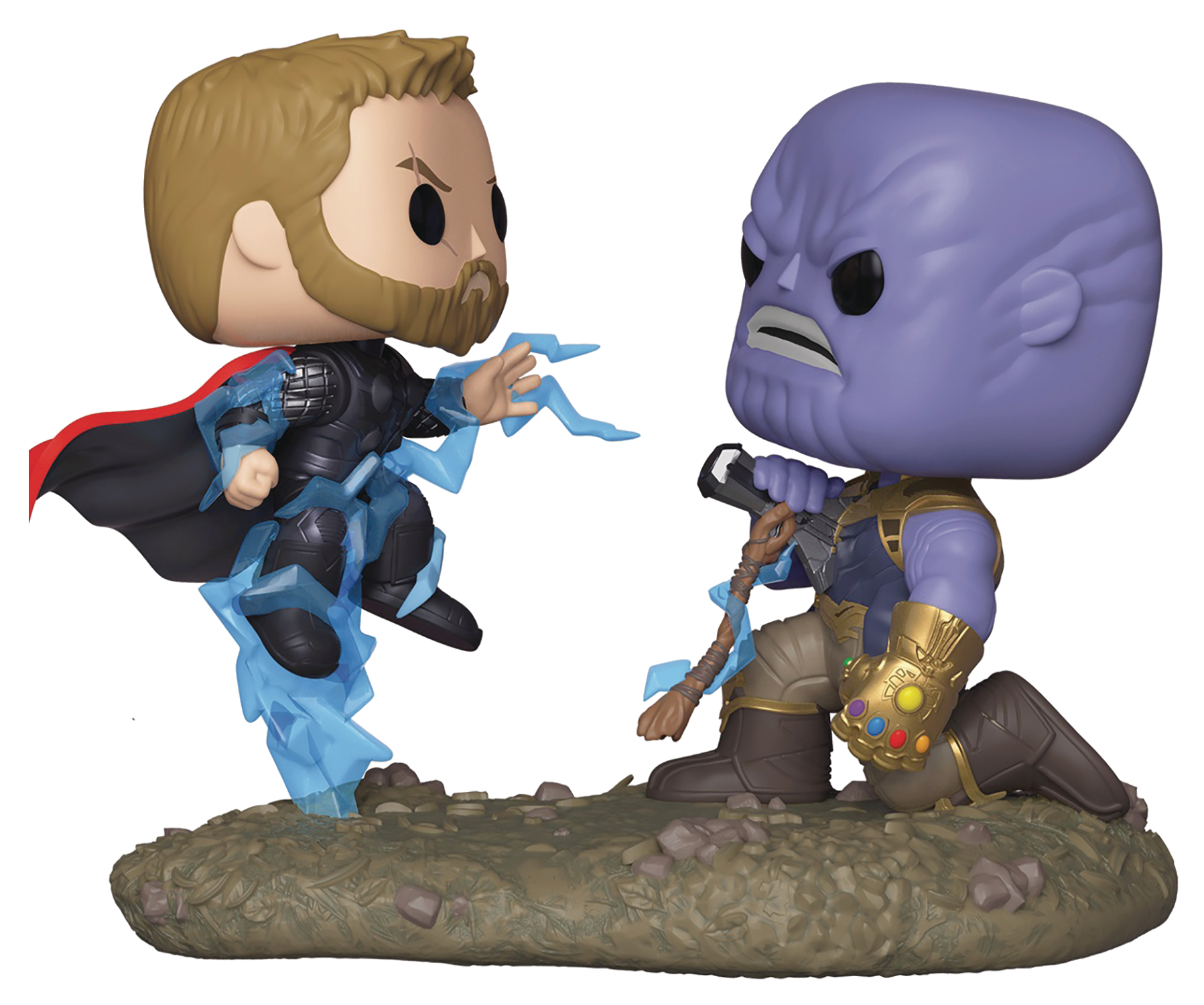 POP MOVIE MOMENT MARVEL THOR VS THANOS VINYL FIGURE