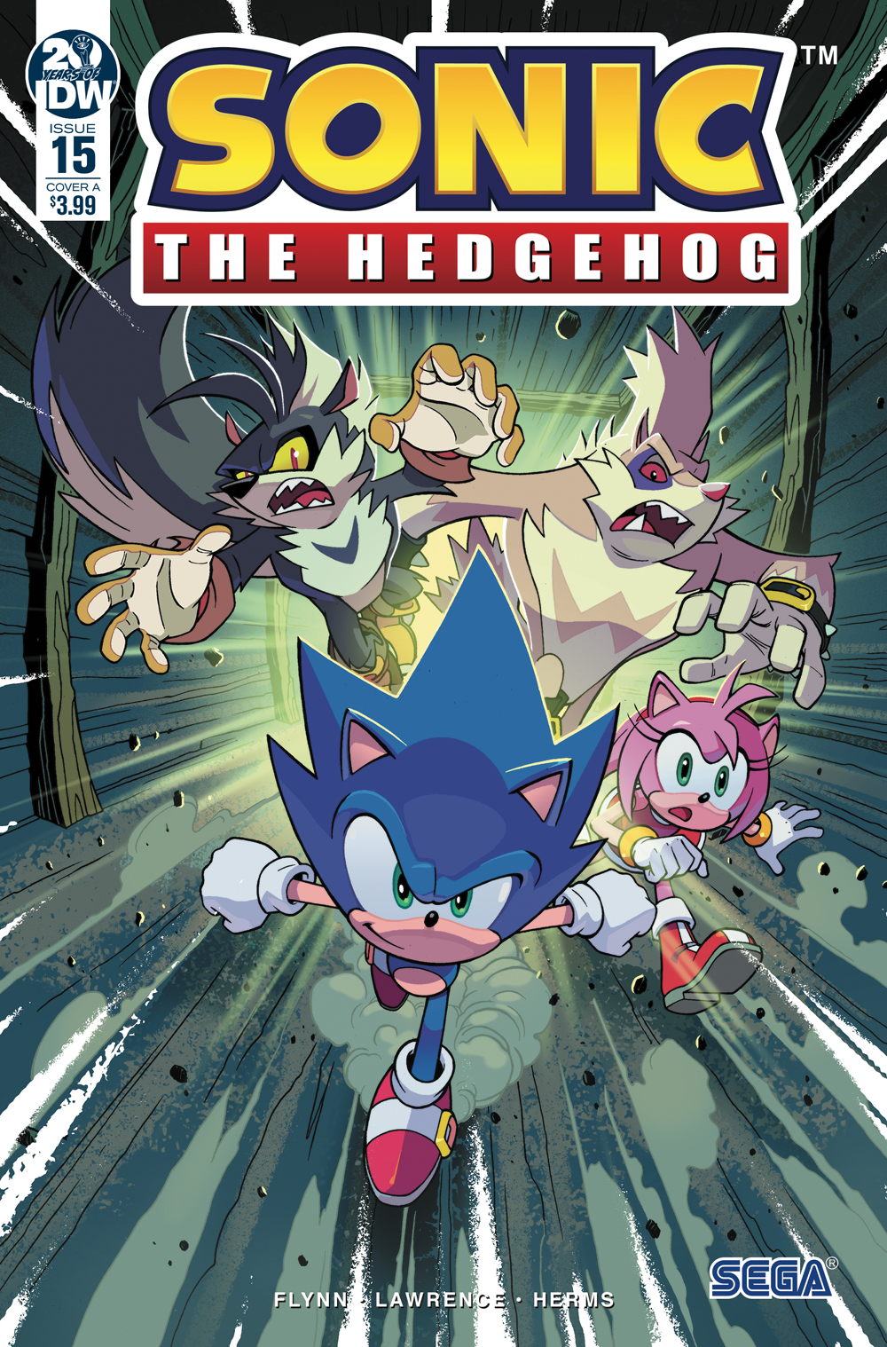 SONIC THE HEDGEHOG #15 CVR A LAWRENCE