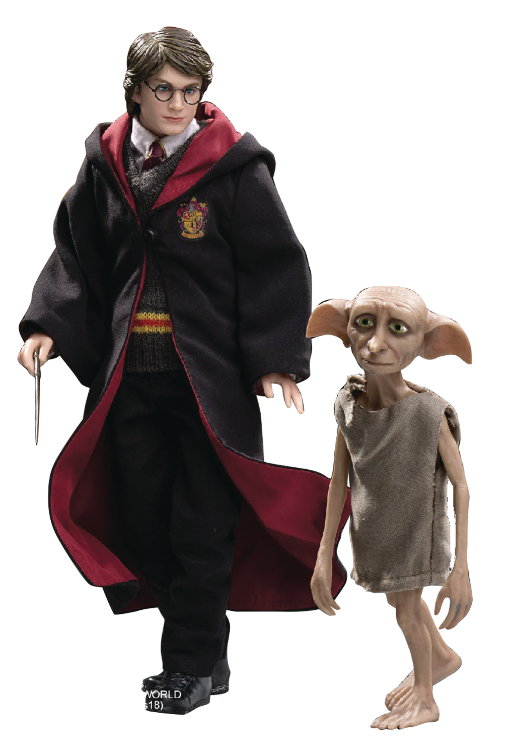 HP & THE PRISONER OF AZKABAN HARRY W/DOBBY 1/8 COLL AF SET (
