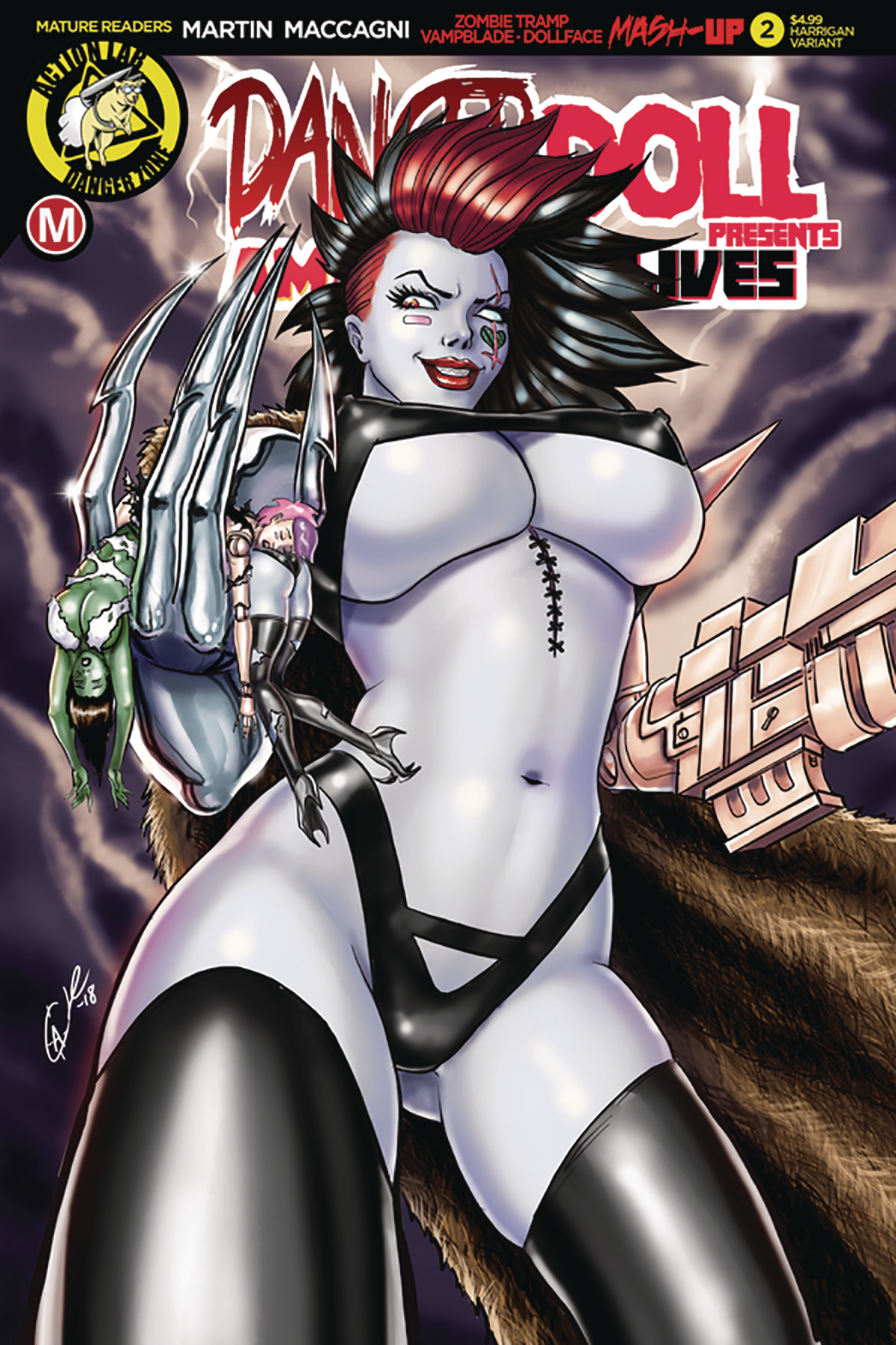 DANGER DOLL SQUAD PRESENTS AMALGAMA LIVES #2 CVR E HARRIGAN
