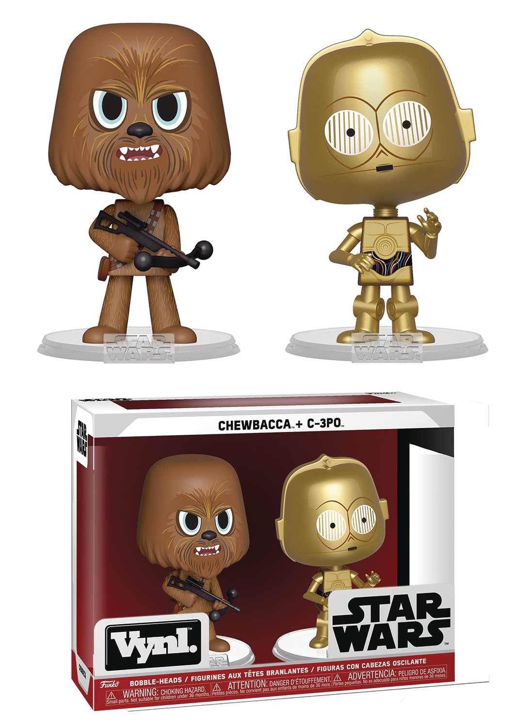 VYNL STAR WARS CHEWBACCA & C-3PO VIN FIG 2PK