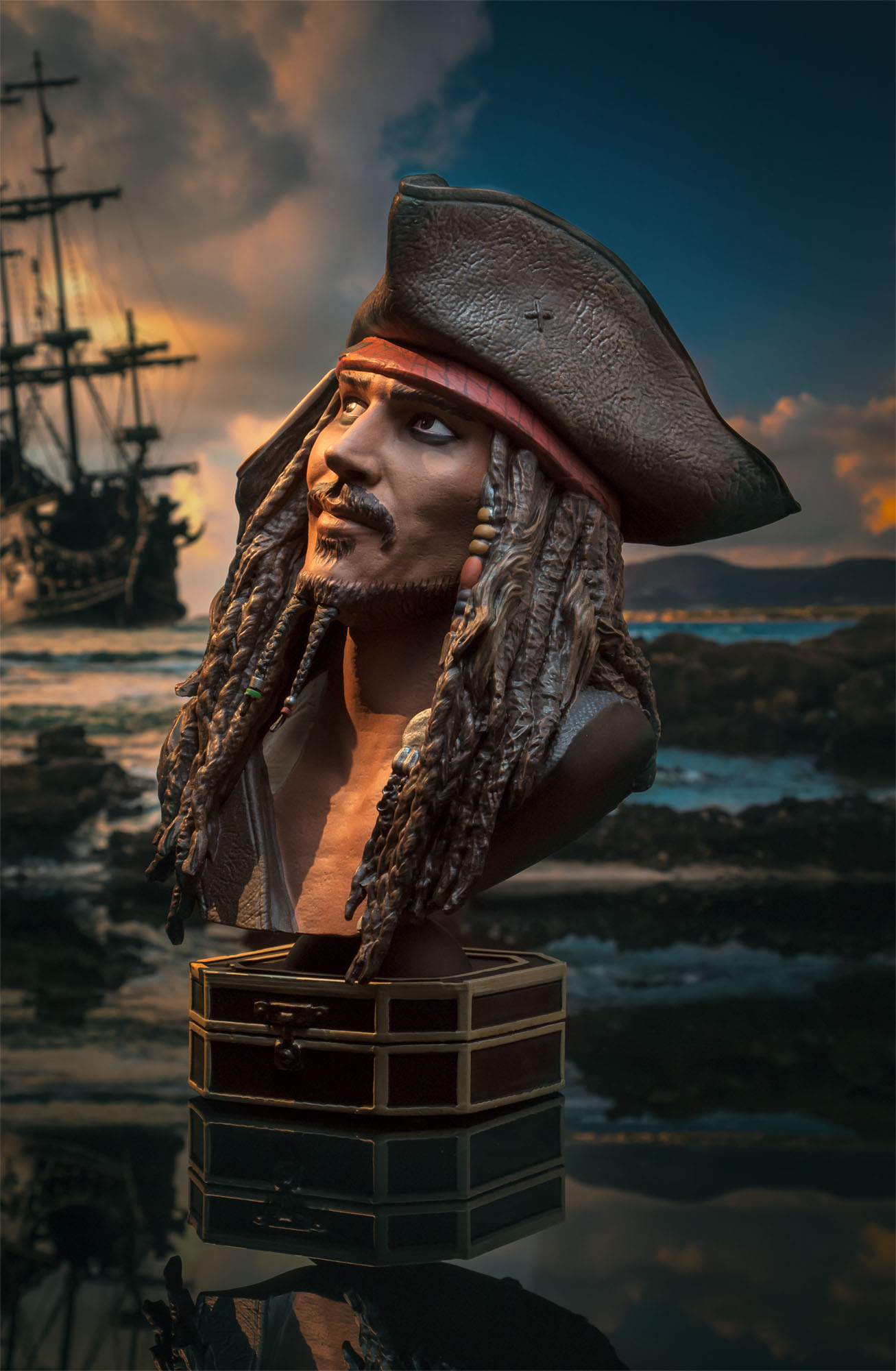 LEGENDS IN 3D MOVIE POTC JACK SPARROW 1/2 SCALE BUST (O/A) (