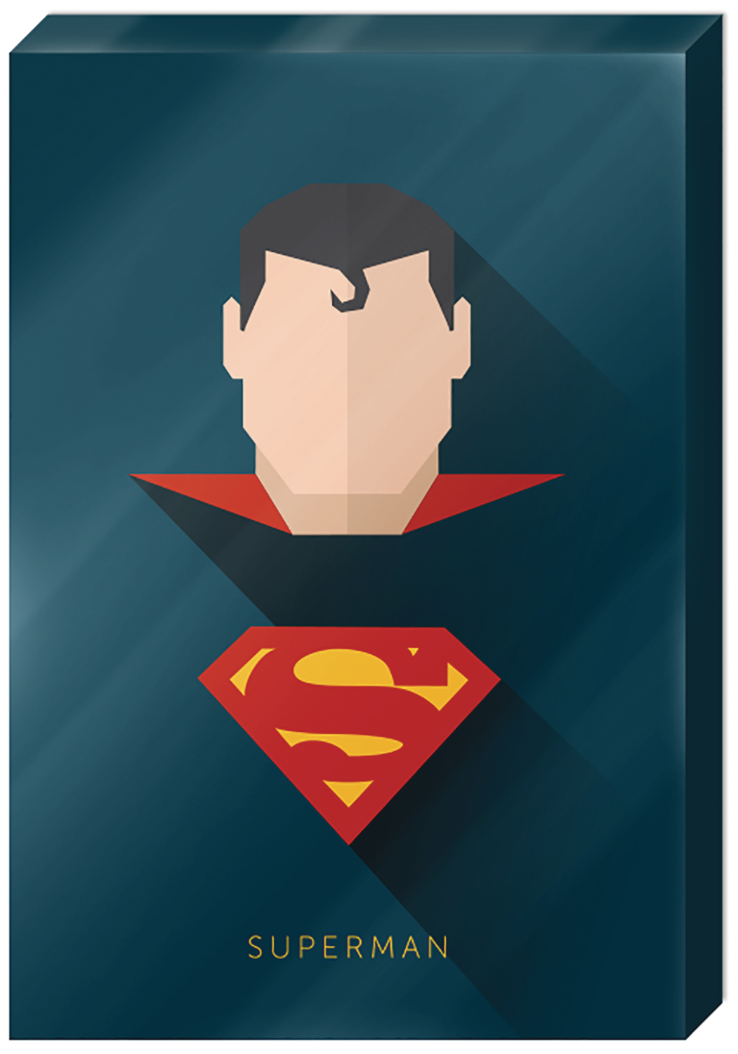 DC SUPERMAN HIGH GLOSS 13X19 IN CANVAS WALL ART