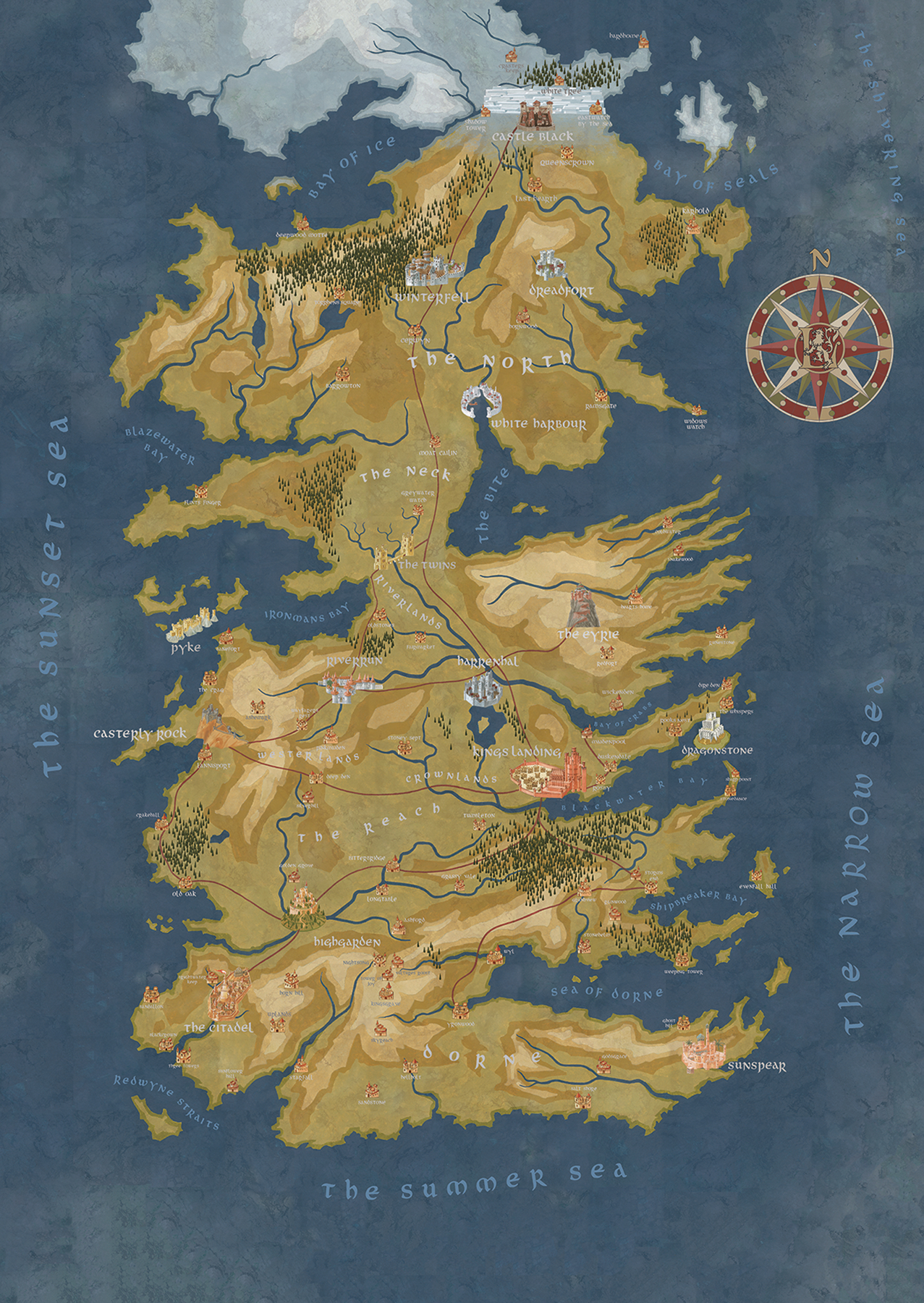 Jan190487 Got Cersei Lannister Westeros Map Previews World