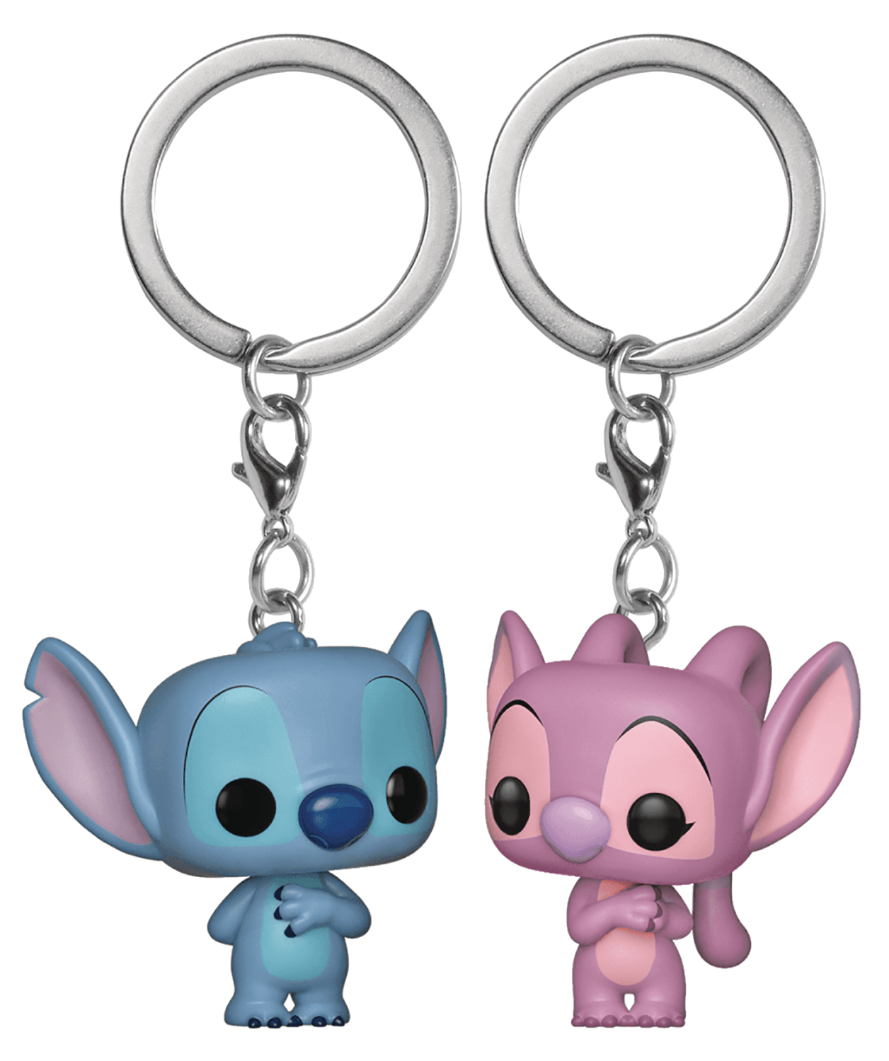 POP KEYCHAIN LILO & STITCH STITCH & ANGEL 2PK VIN FIG