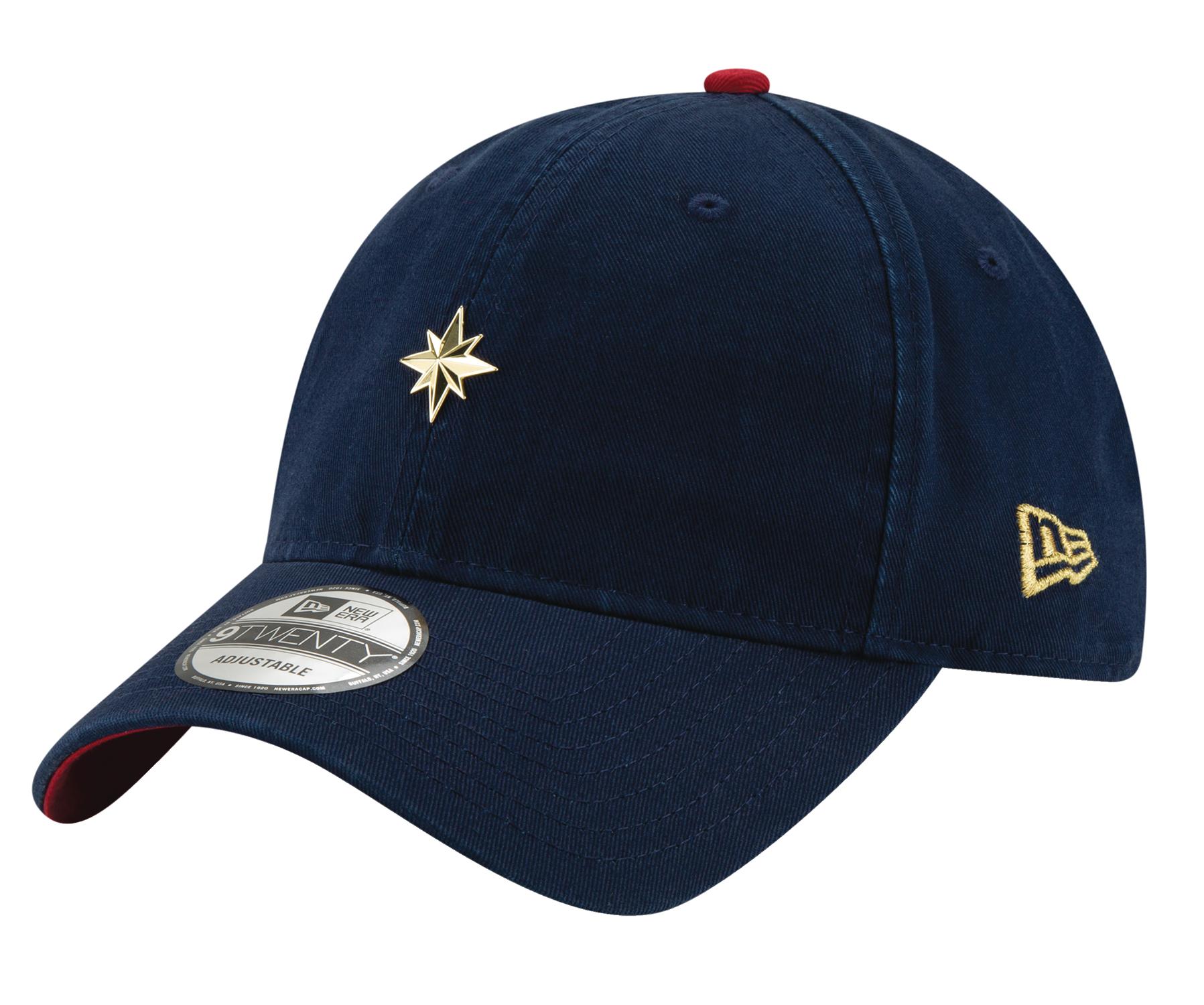 nov188489 - captain marvel movie mini badge adjustable cap