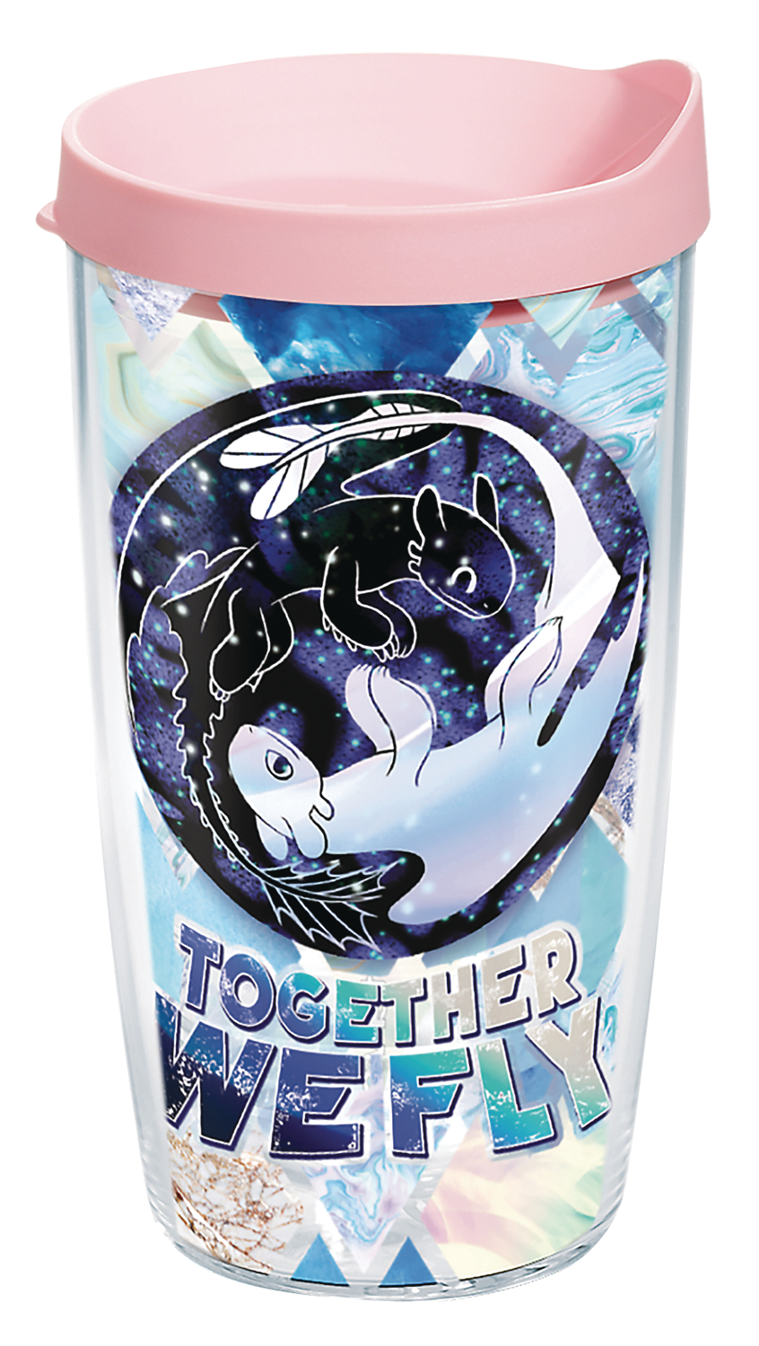 HTTYD TOGETHER WE FLY 16 OZ TUMBLER W/LID